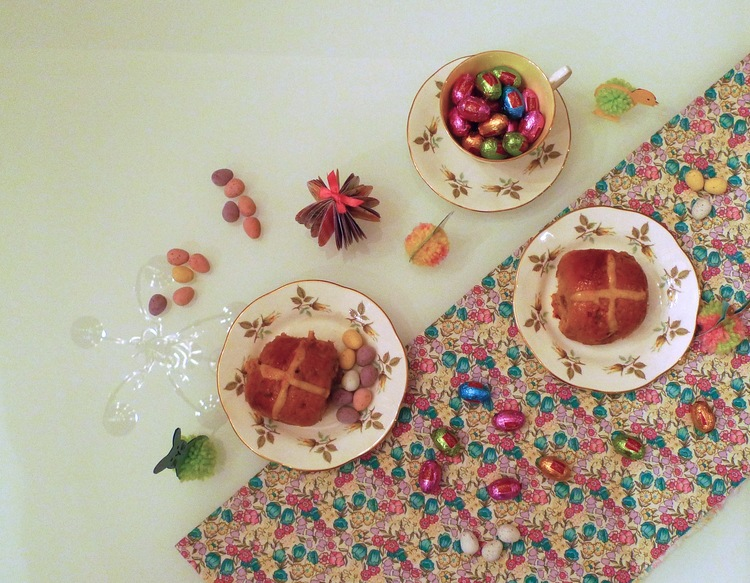 March: An Easter tea party with home-made Hot Cross Buns