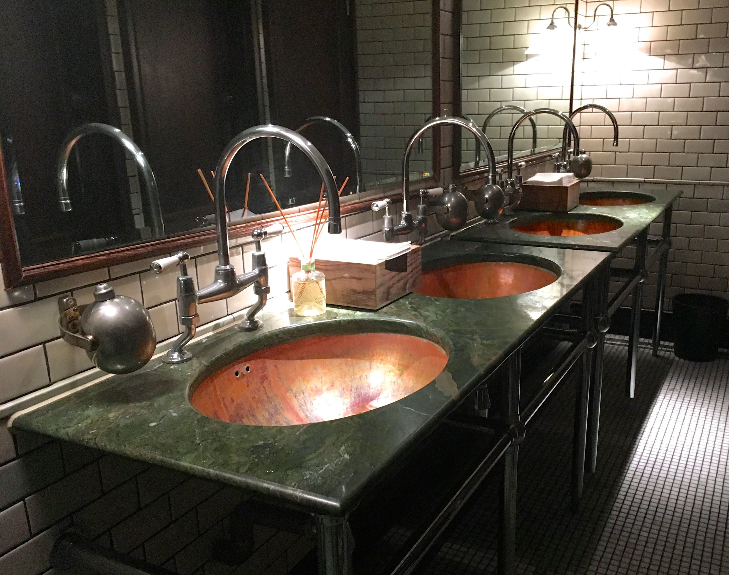 First impressions were good, just look at that row of wash basins