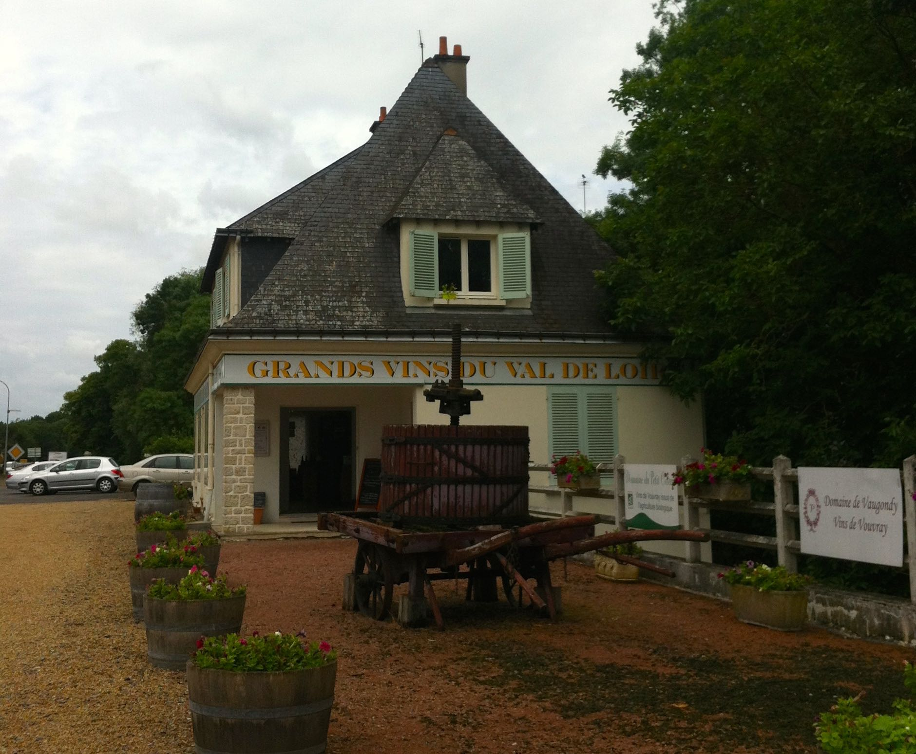 Our unscheduled stop in Vouvray where we decided to buy and try some of the wine of the same name