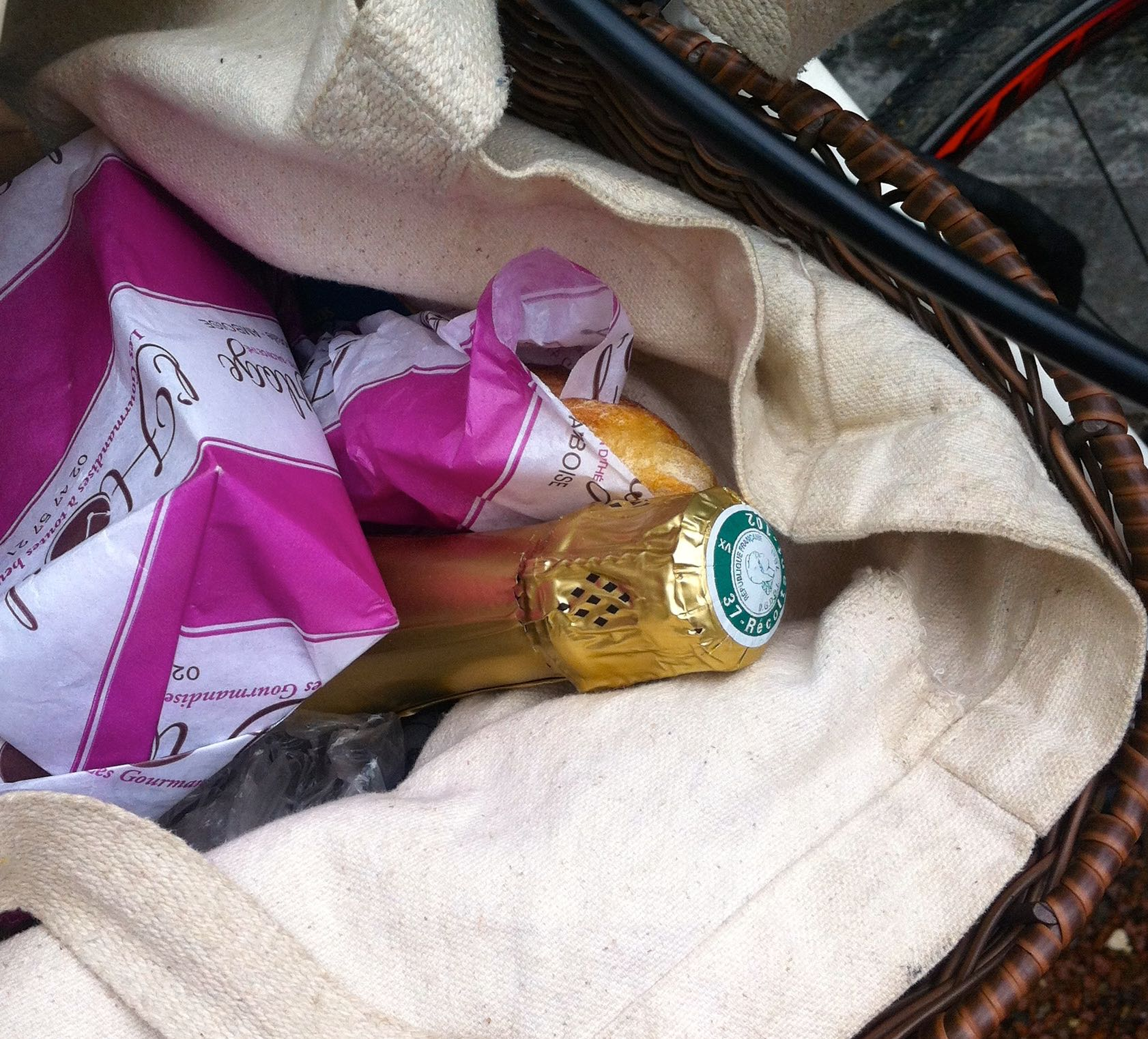 A VOUVRAY IN THE BASKET