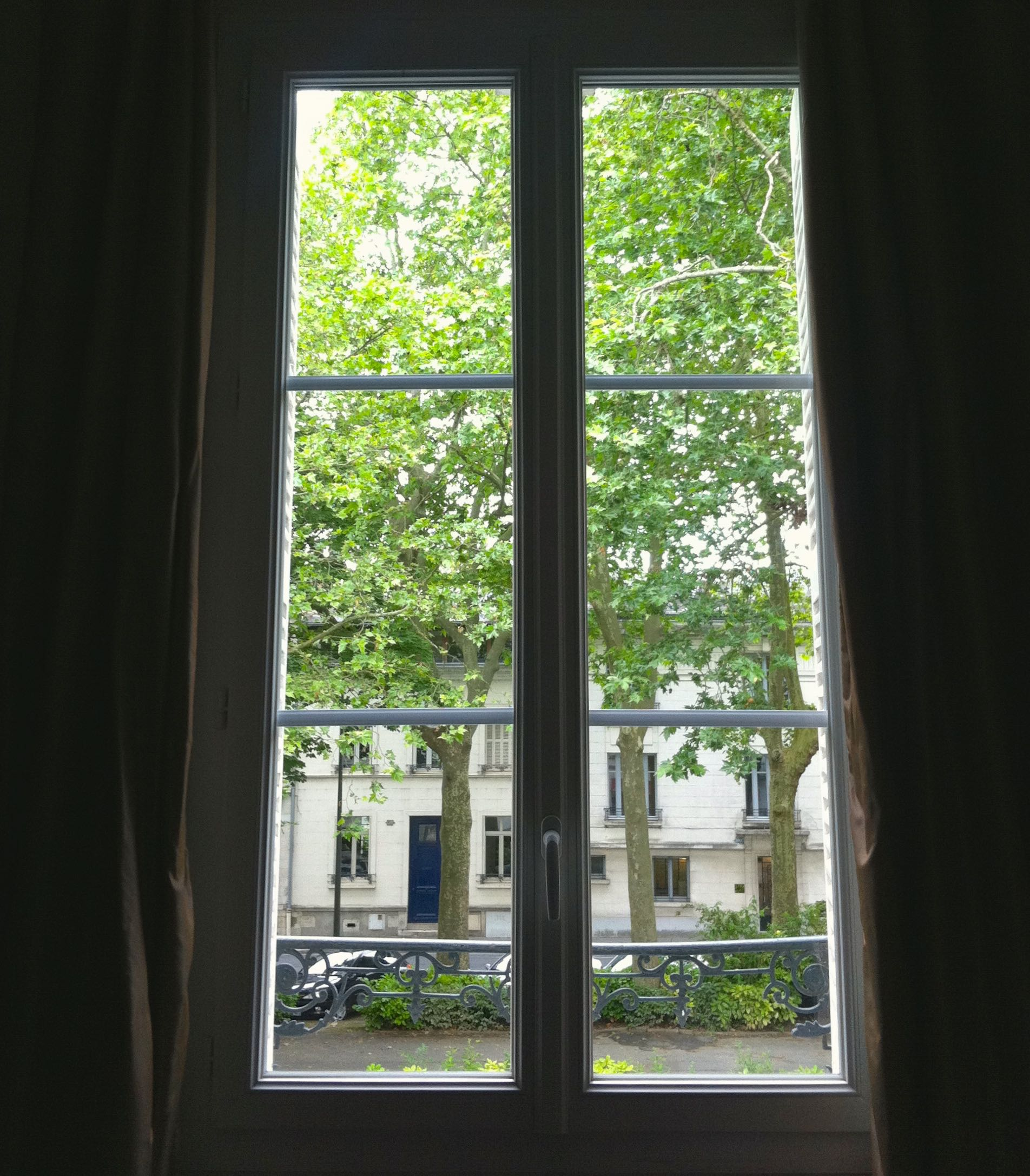 The view from our room in Tours