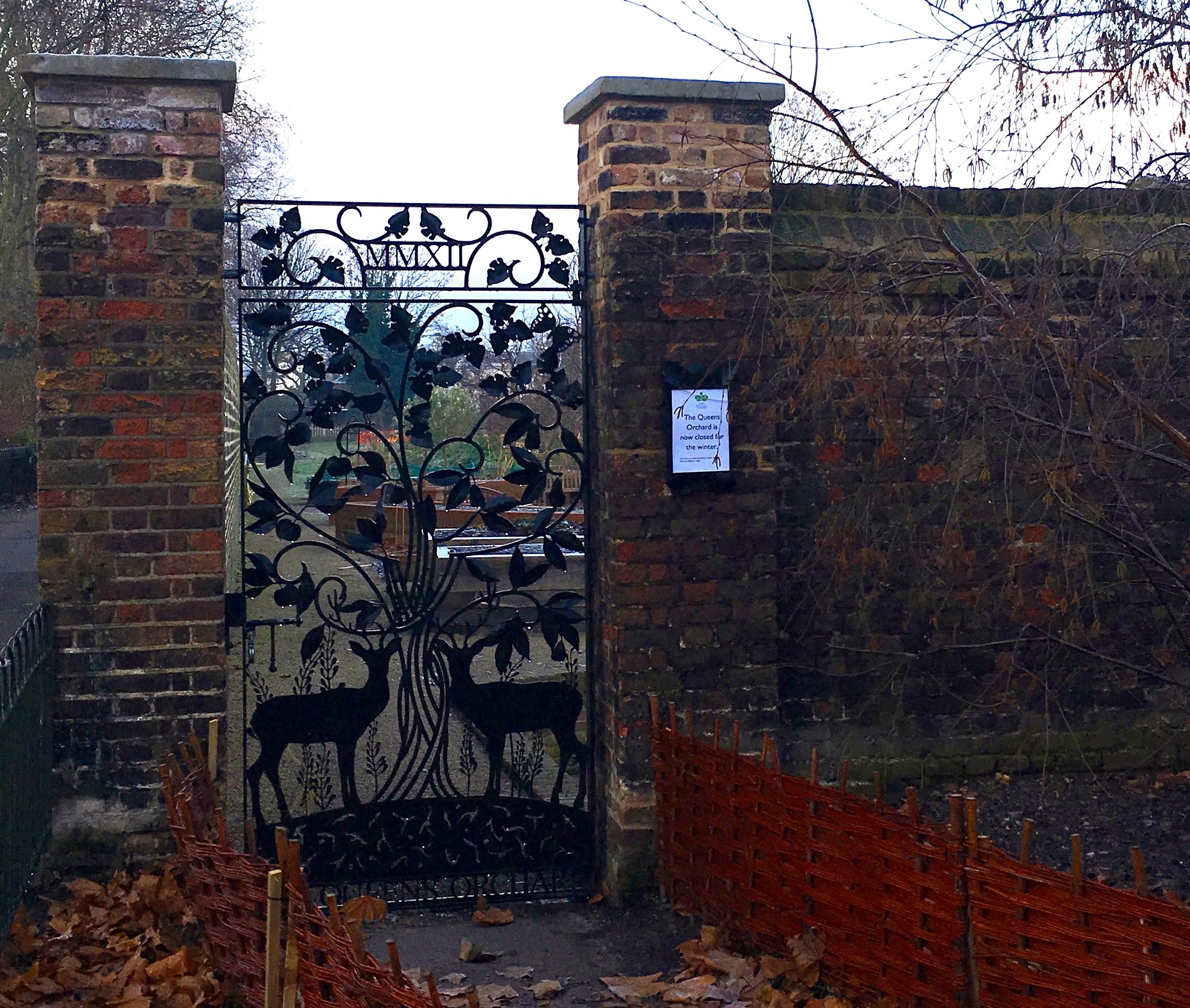 The Queen's Orchard in Greenwich Park - a new discovery for me this month - but one with a fantastic gate