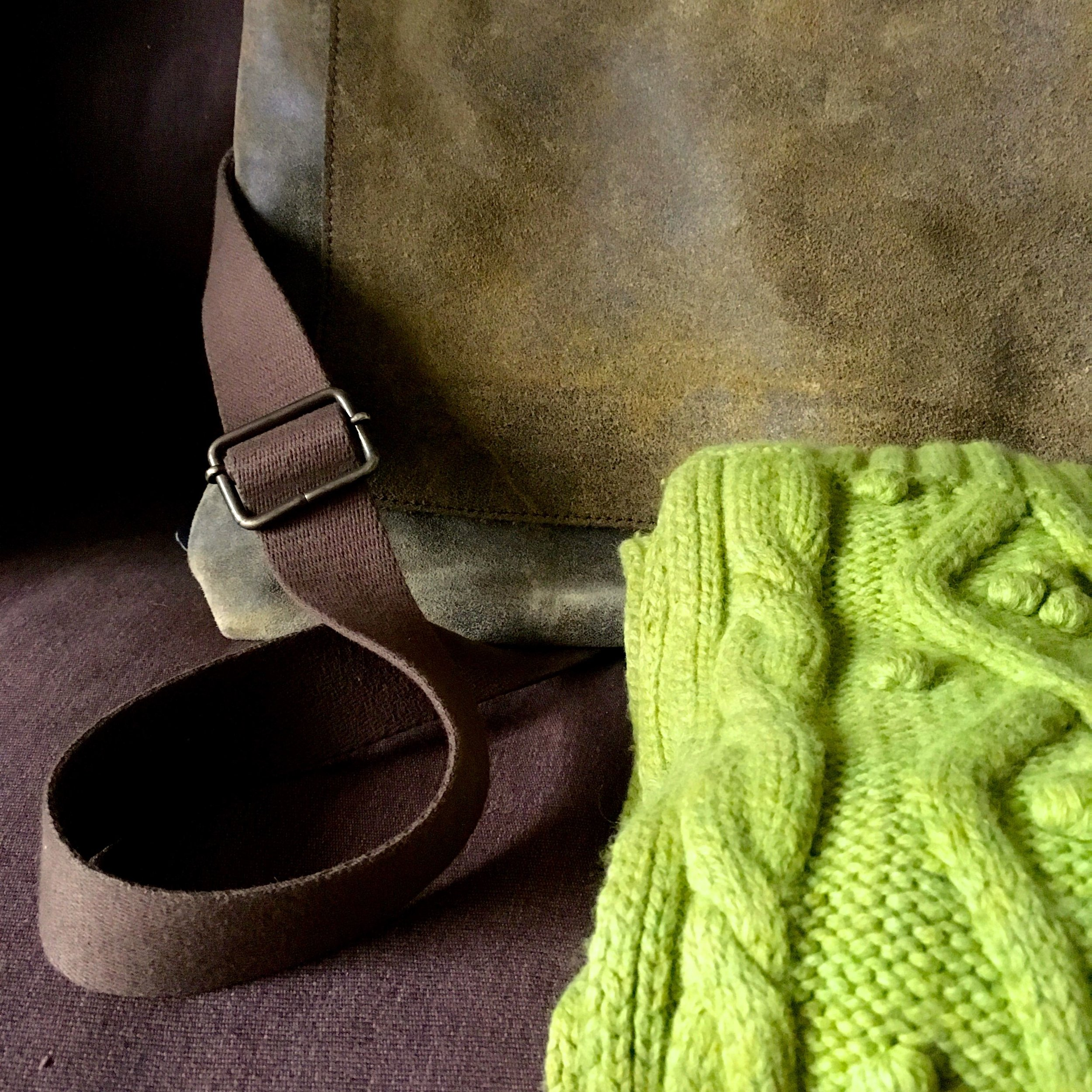 My vintage Boden scarf and satchel bag