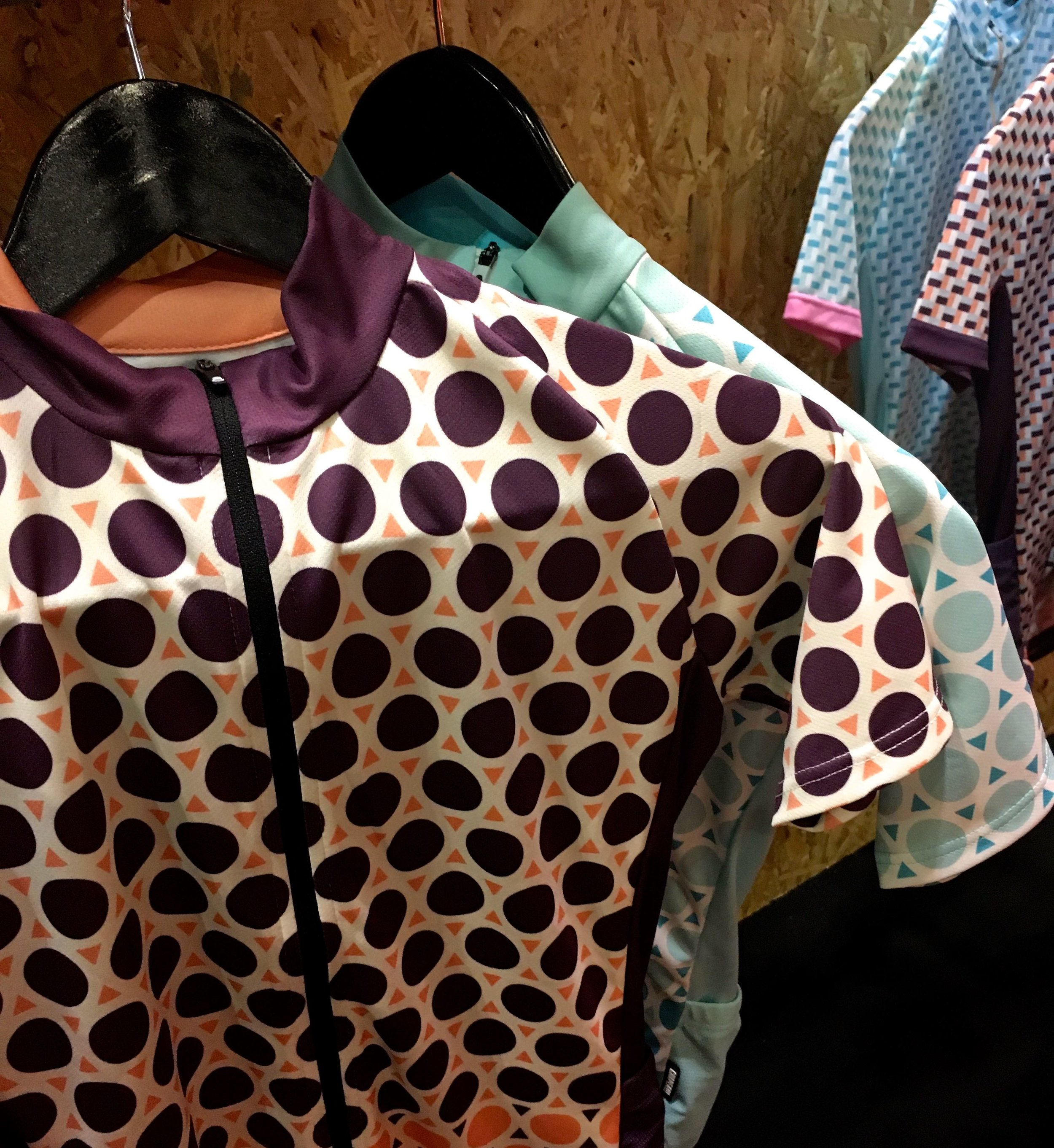 female cycling gear by Chappeau at the London Bike Show