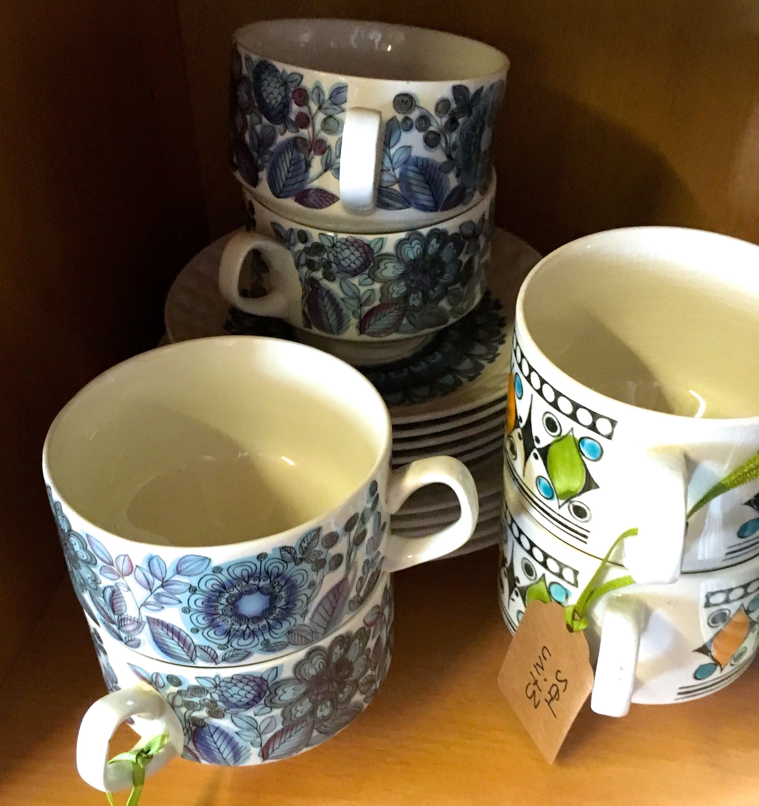tea cups and saucers galore