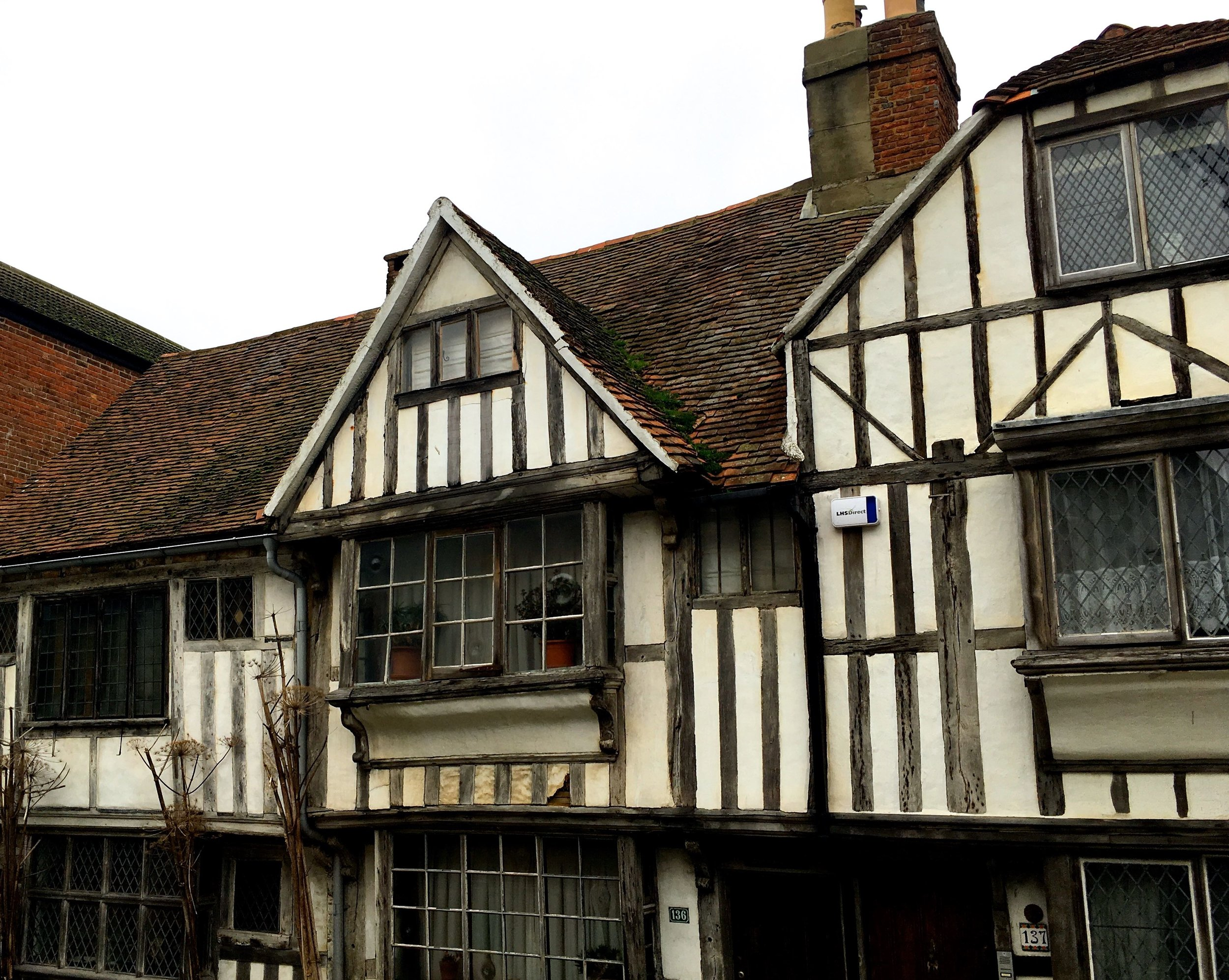 One of the timber framed buildings completely fascinated me