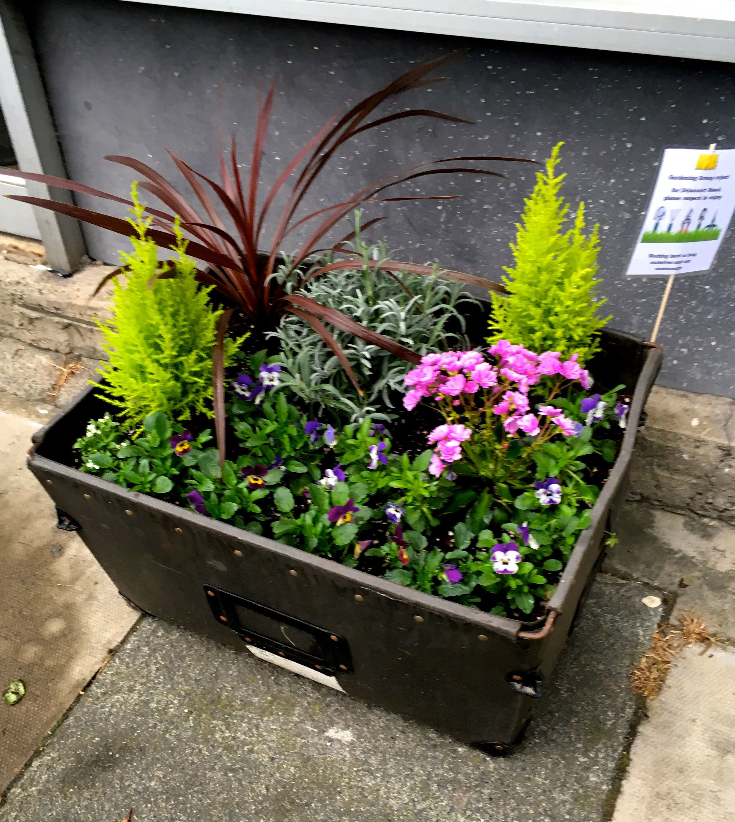 A STORAGE BOX OUTSIDE THE TAXI OFFICE