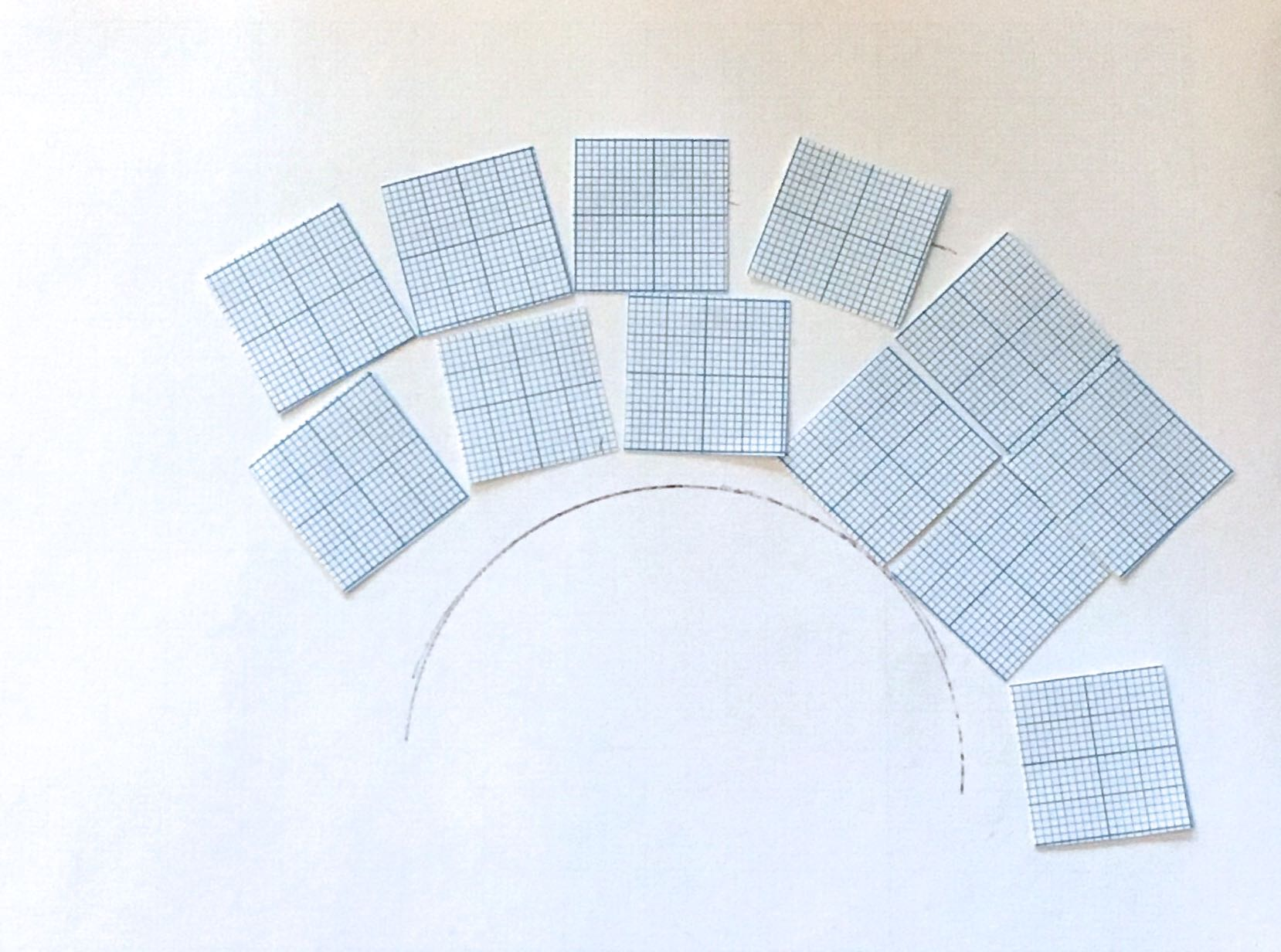 USING CUT OUT SQUARES FOR A MORE CONSIDERED PLAN