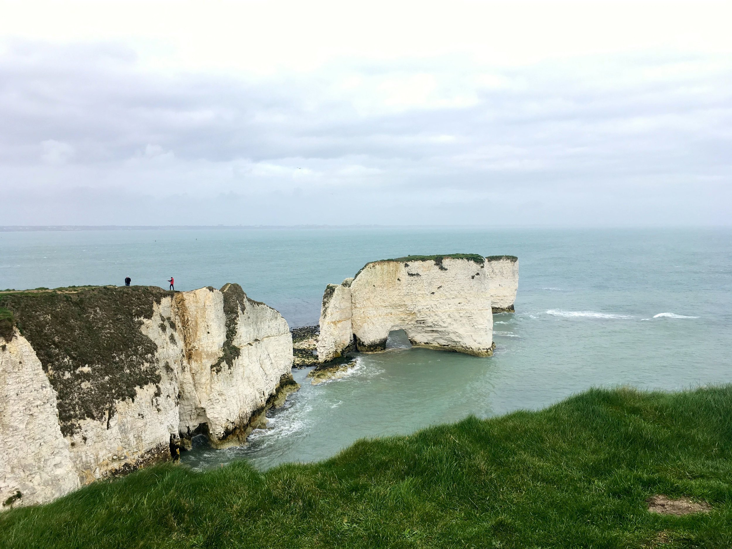 The wind was worth it though for the views of Old Harry rocks in Dorset