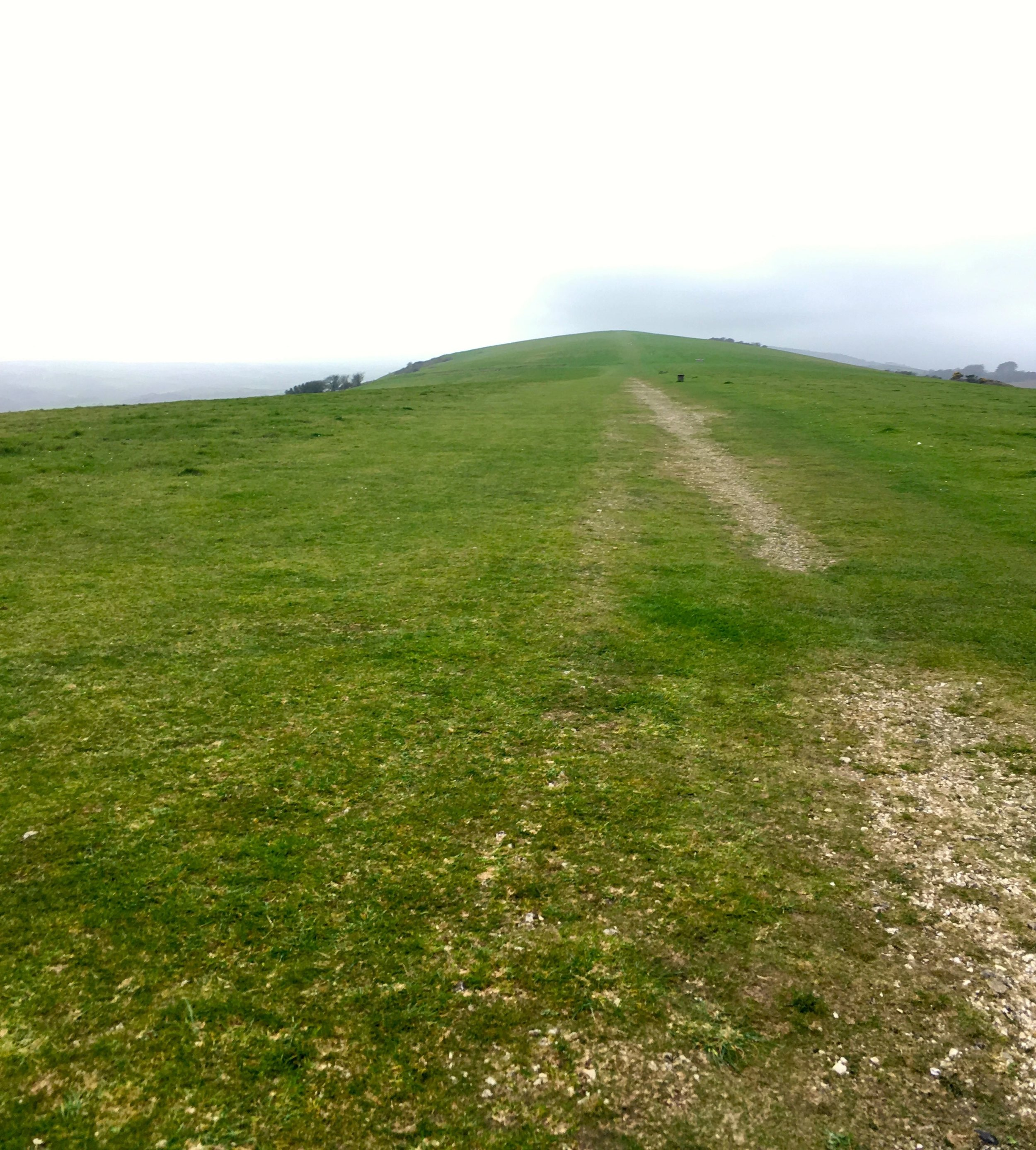 setting off back to our cottage on foot along the Purbeck Ridgeway in Dorset