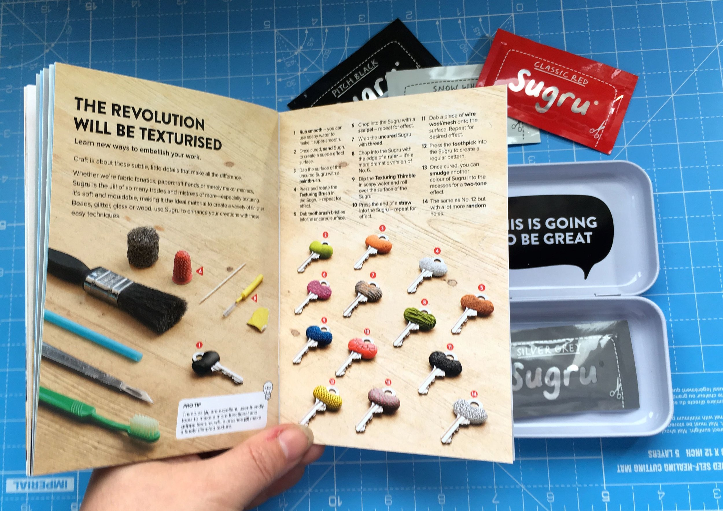 Getting some inspiration from the booklet inside the Sugru Create & Craft kit