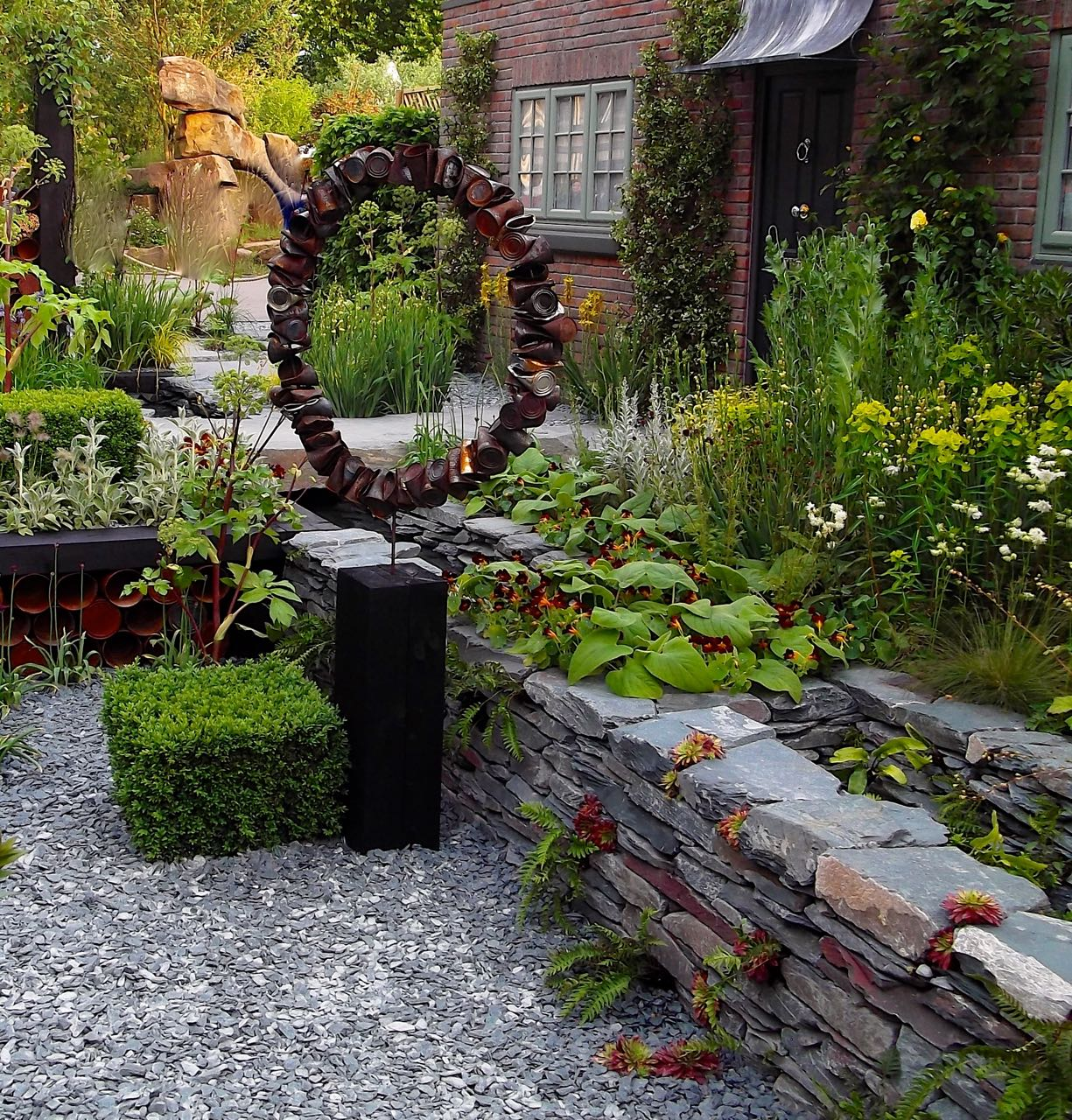 A look at the garden sculpture used in The Great Chelsea Garden Challenge 2015 - a front garden by Sean Murray