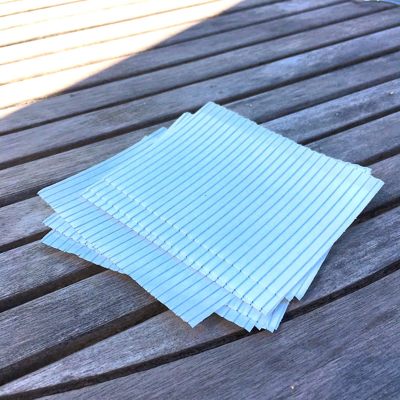 The essential ingredient for us was these simple freezer bag ties!