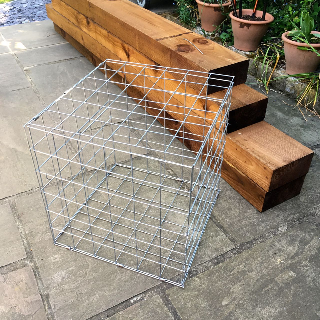 A completed gabion basket, how many more to go?