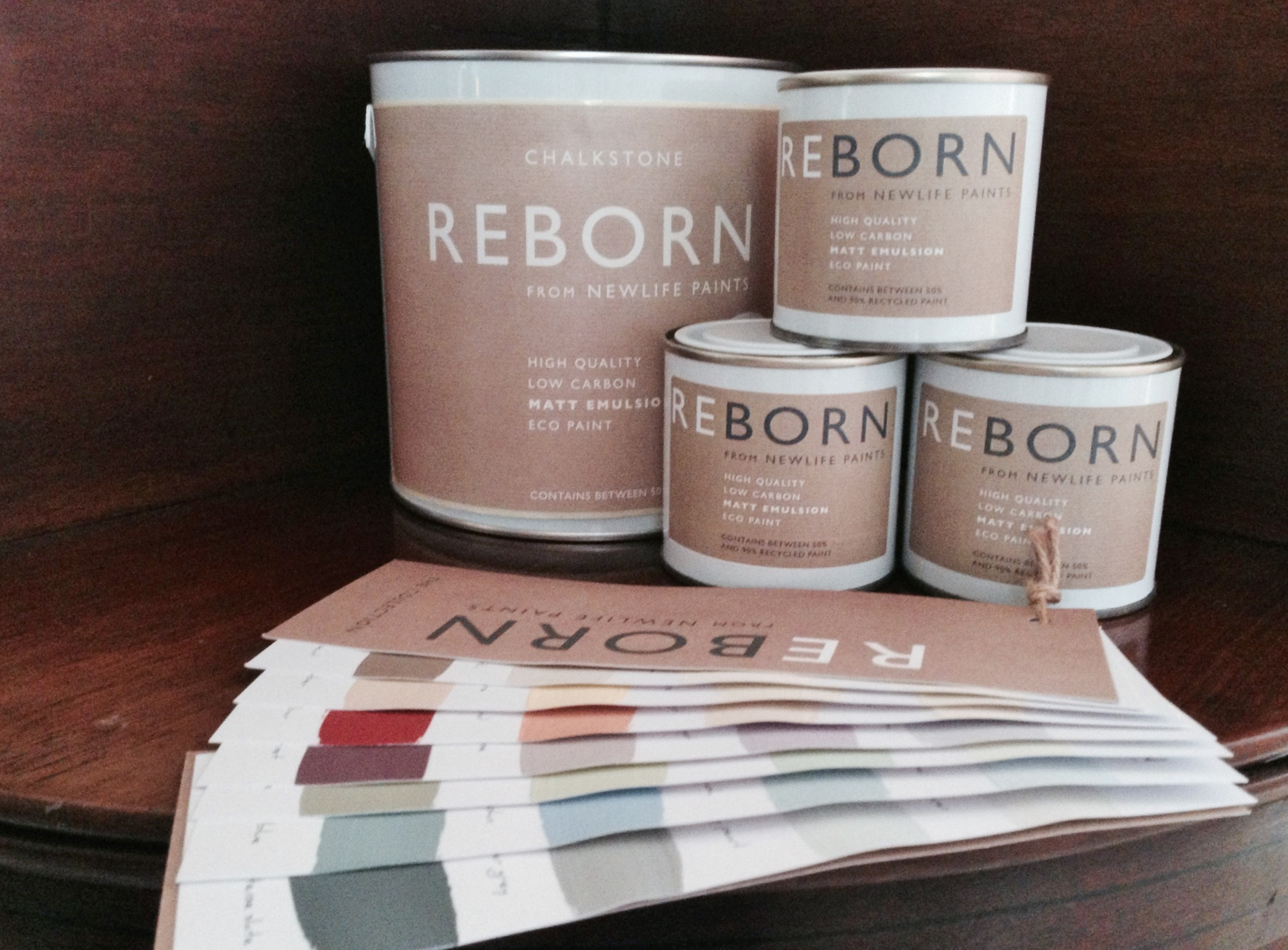 Reborn paints - recycled paint from unwanted paint from household tips