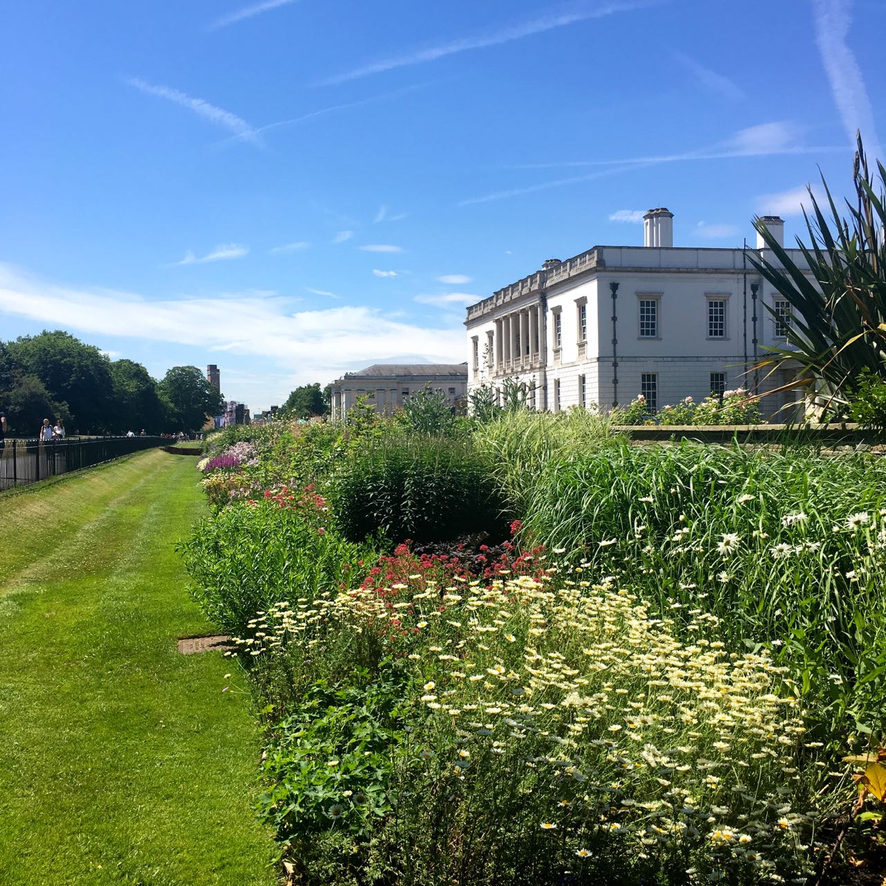 Looking along the Long Borders by the Queen's House