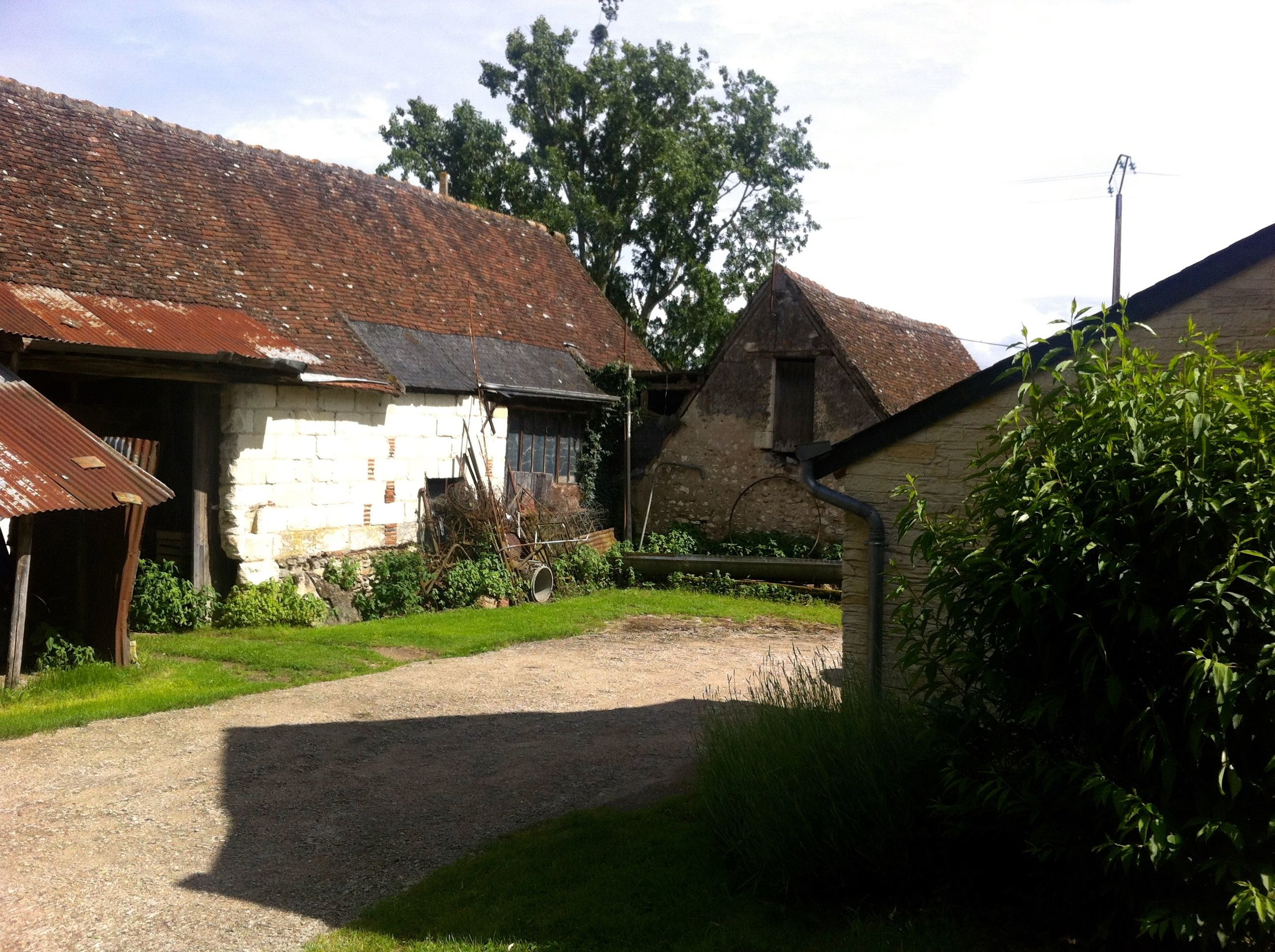 A glimpse into a French farmyard while cycling through the Loire