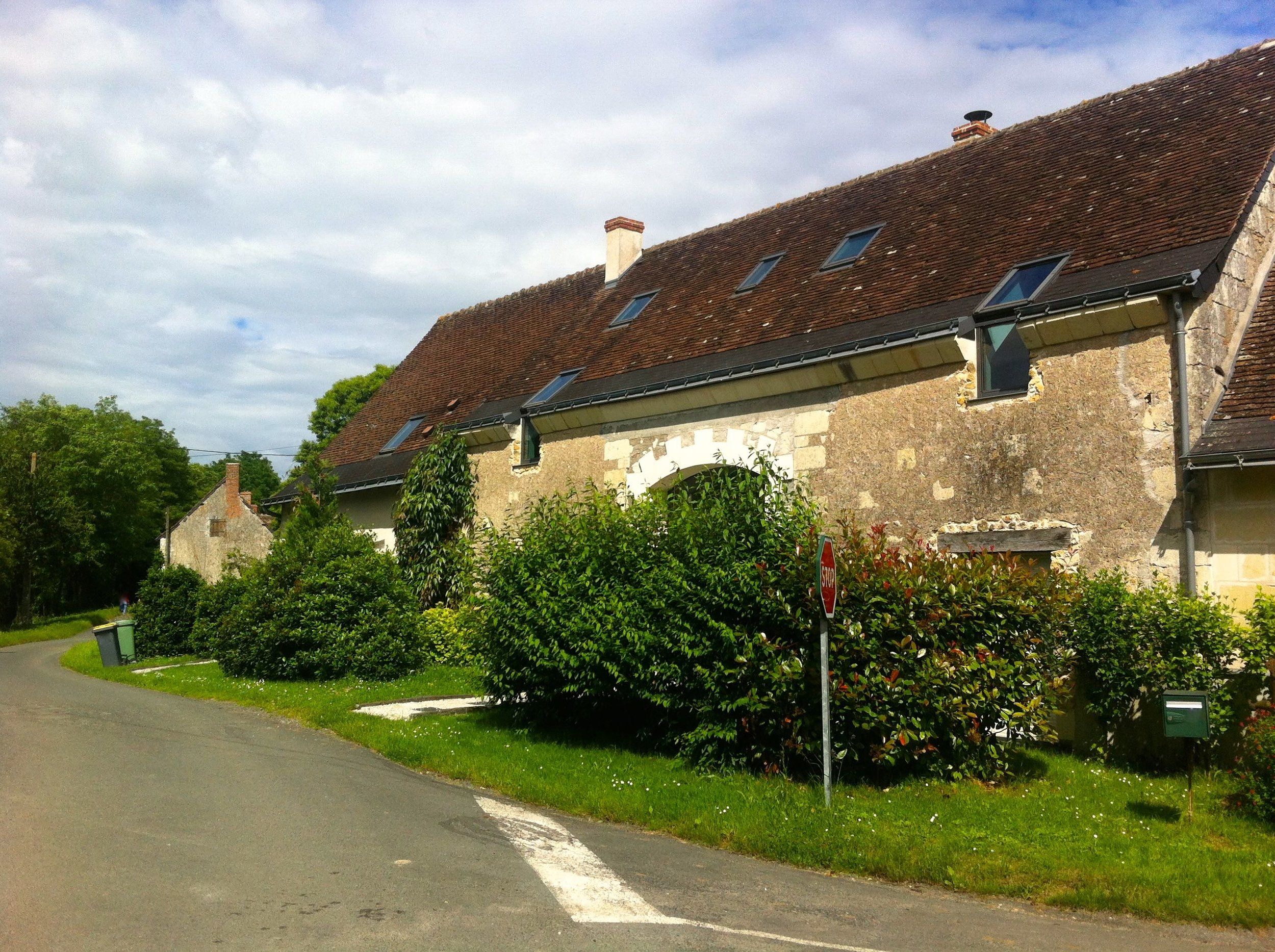 Leaving the picturesque and sleepy French Loire village