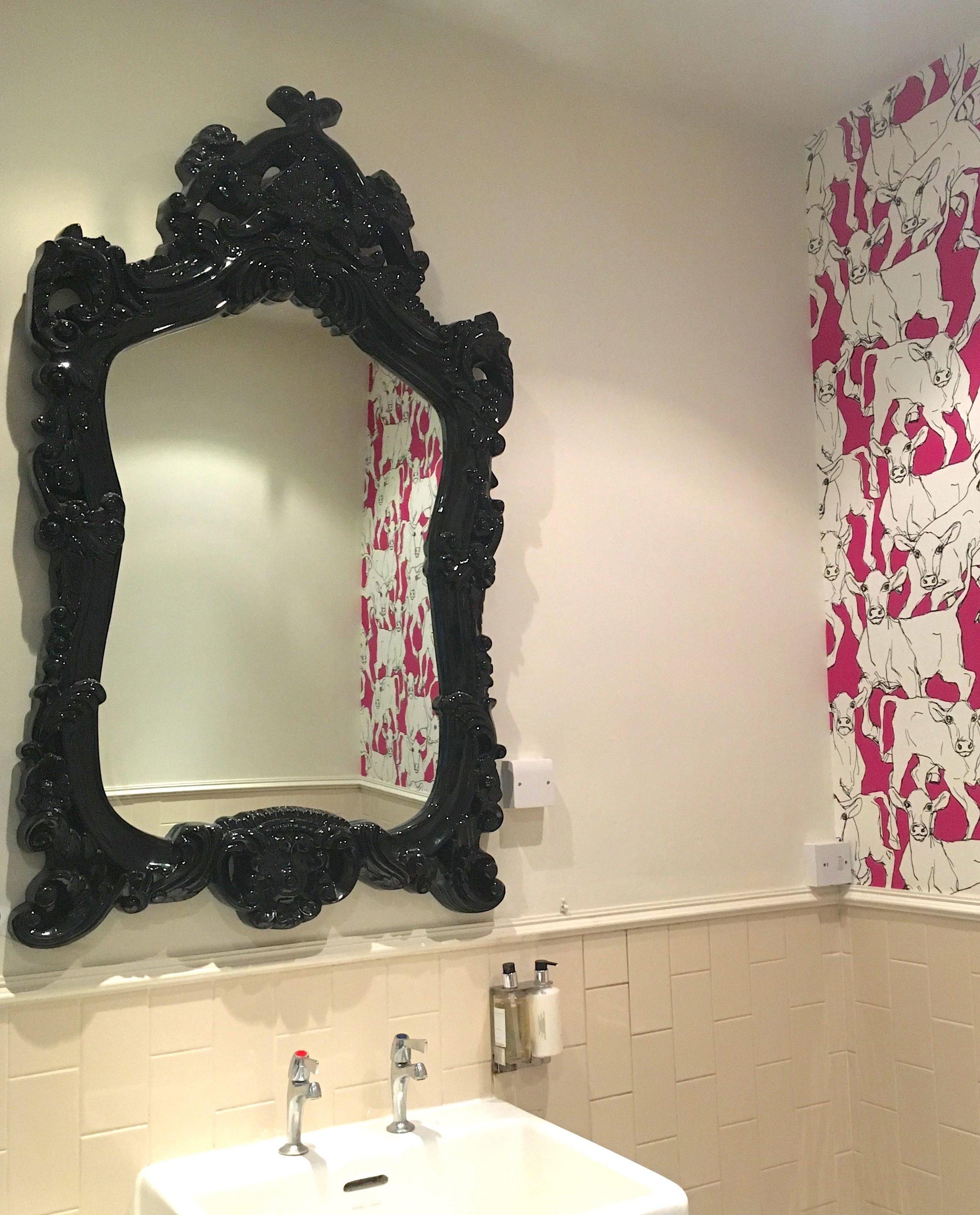 Grand mirrors in the ladies at the Crown Inn in Framlingham
