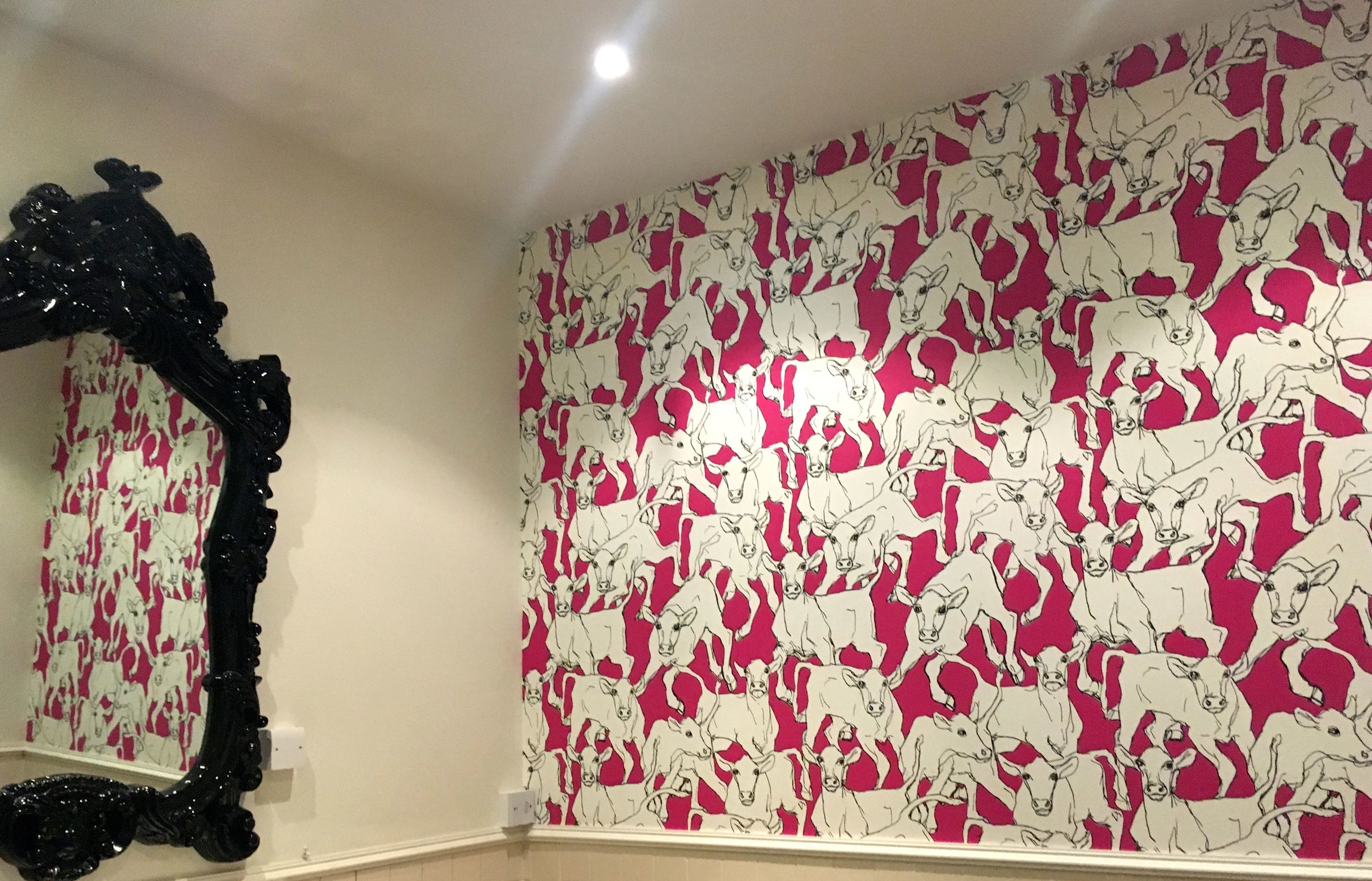 A final look at the moo loos in the ladies at the Crown Inn in Framlingham