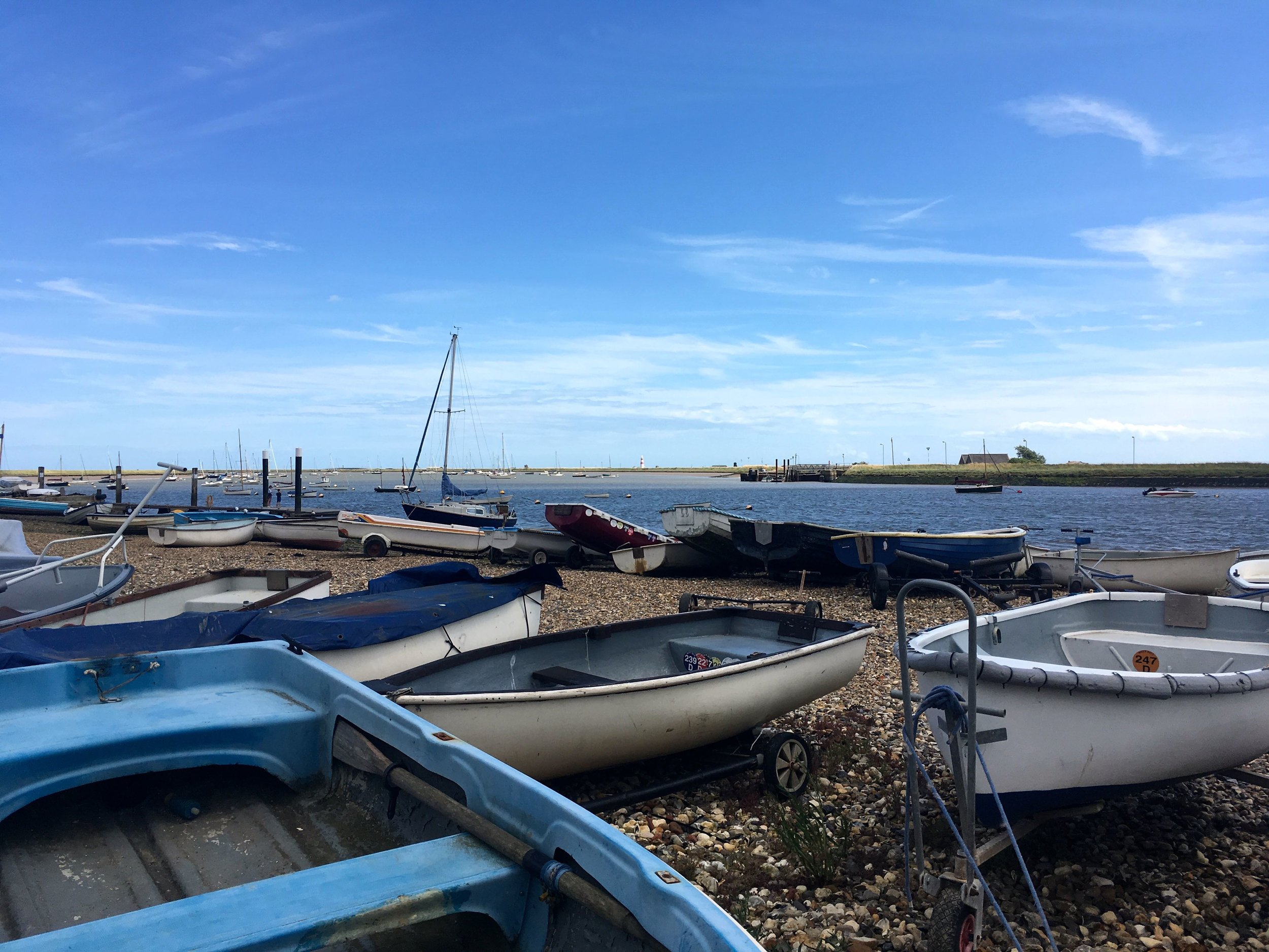 At the quay in Orford in Suffolk