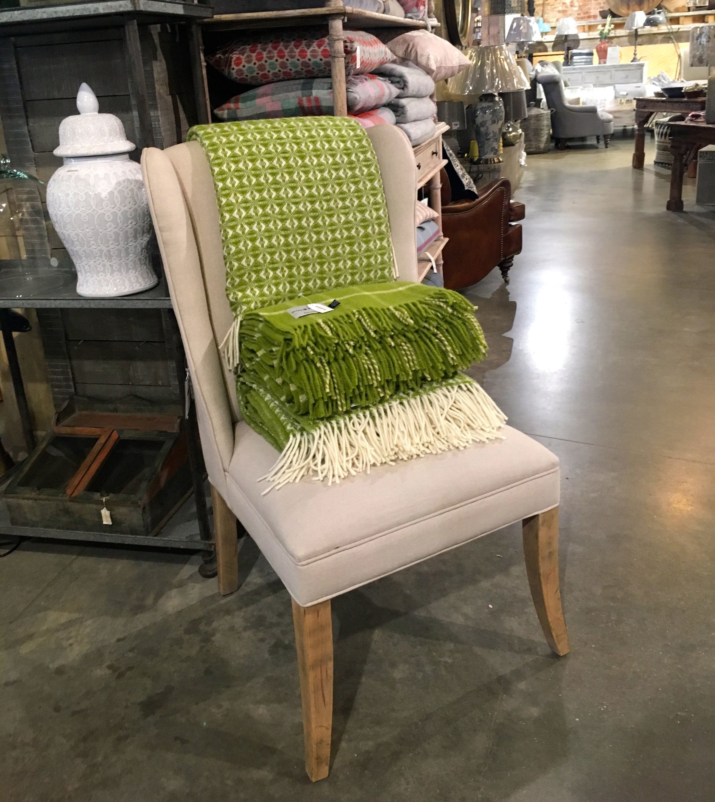 neutrals and brights in the Homes & Gardens shop at Snape Malting Suffolk