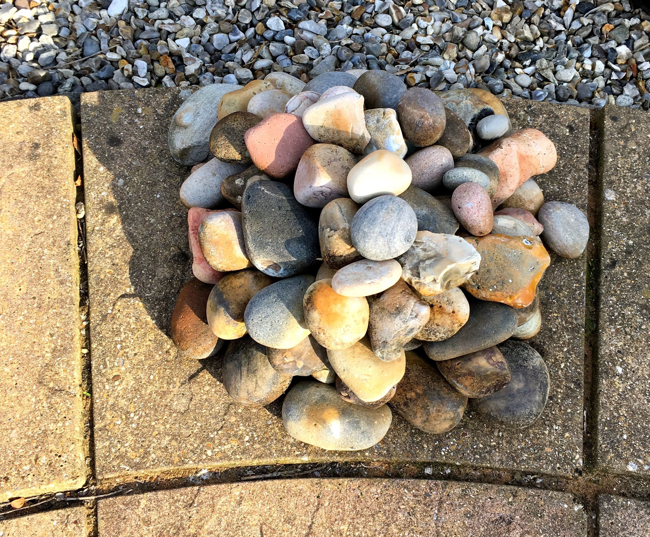 And a pile of stones in dad's norfolk garden
