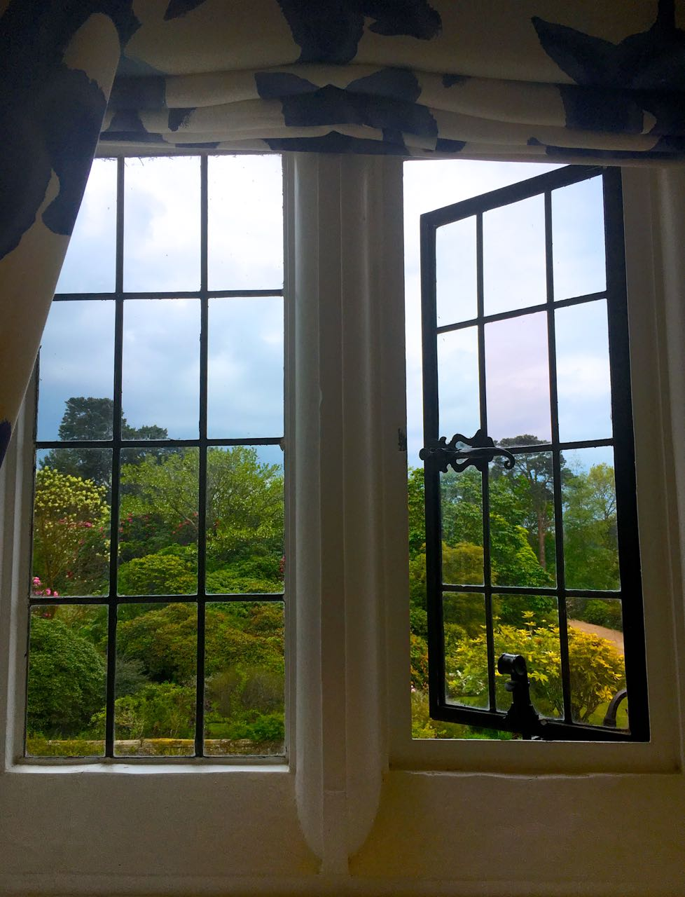 Quite a view from the loo at Gravetye Manor