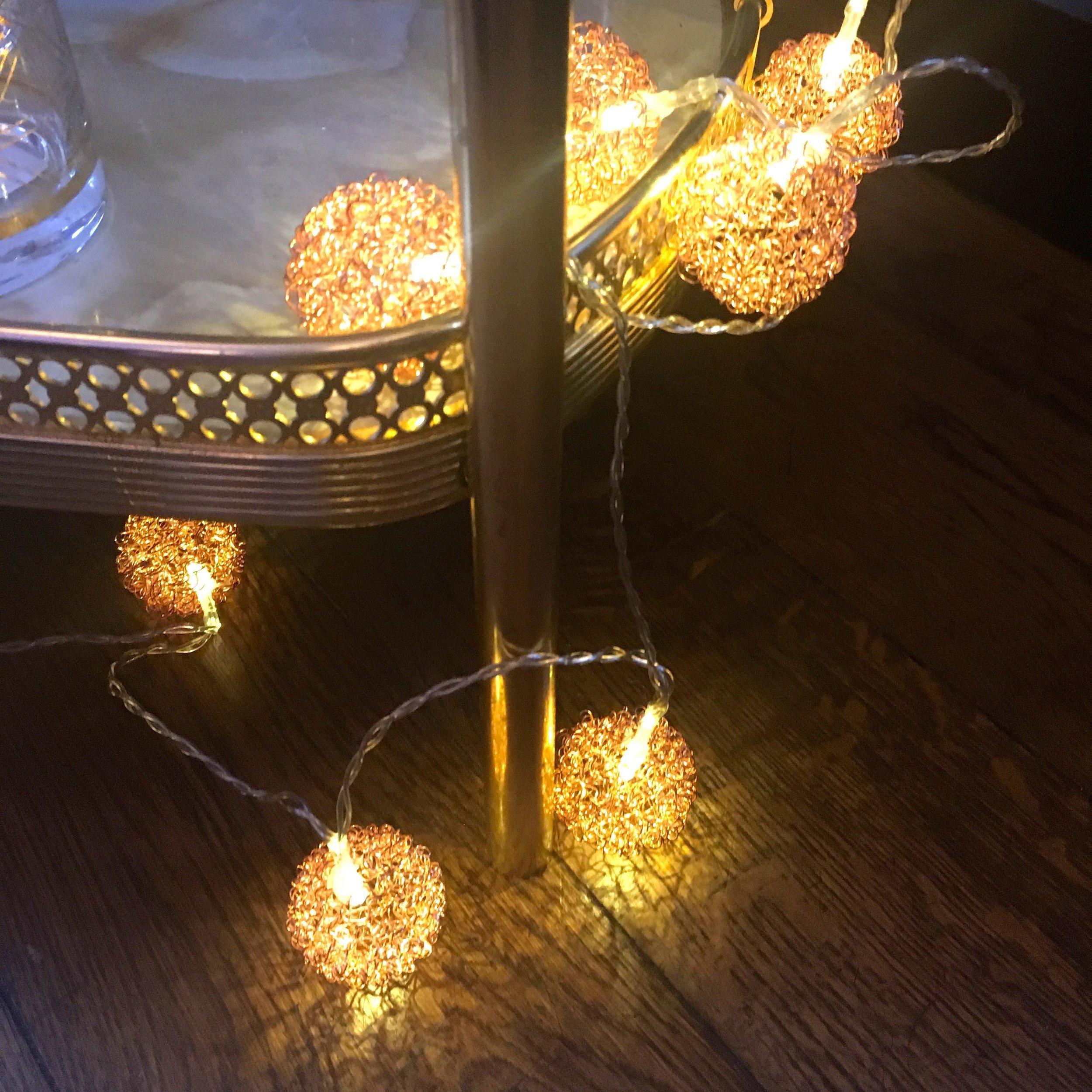 Glitzy lights from HomeSense