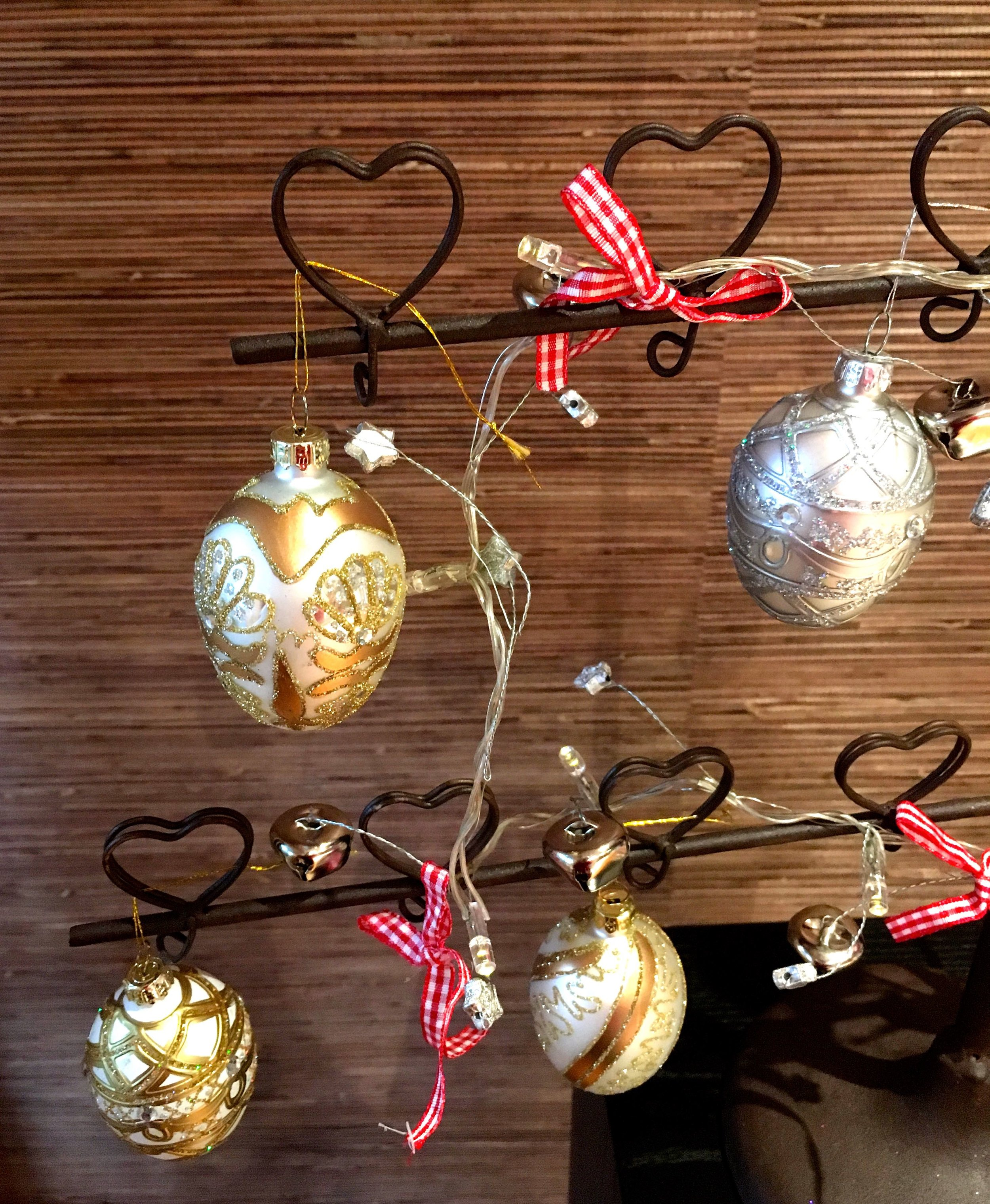decorated baubles that have an egg-shaped appeal
