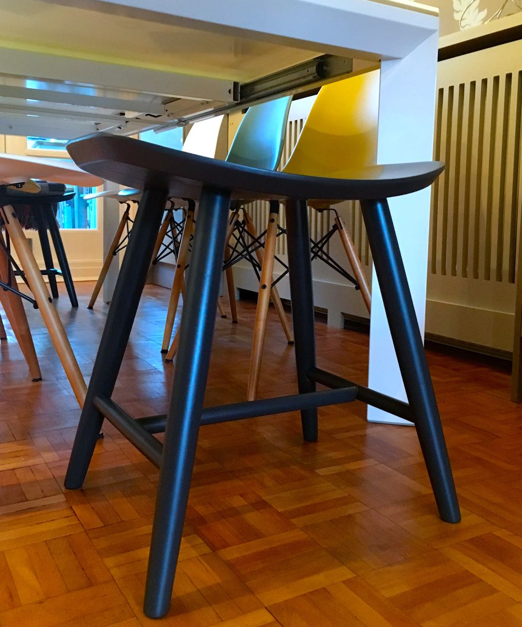 A closer look at one of the stools by Cult Furniture