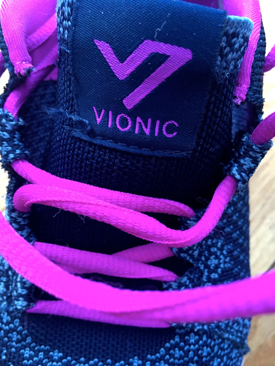 Pink laces on my Vionic trainers are certainly eye catching - but I wouldn't swap them