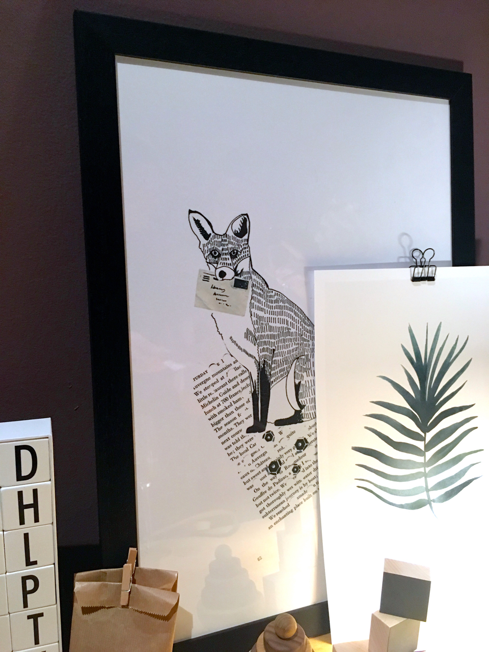 The black and white fox print in the Houzz of 2018