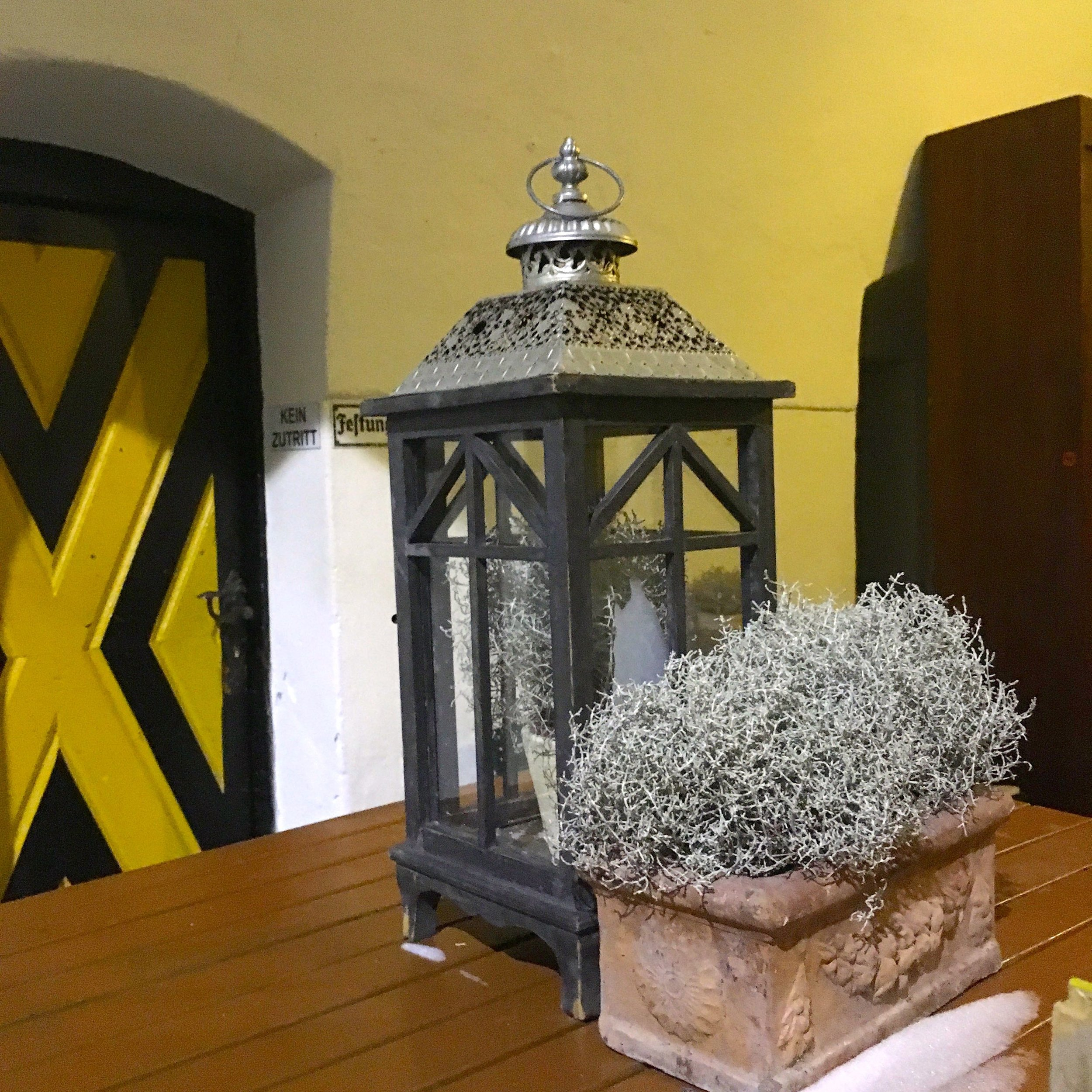 A lantern at the Fortress at Kufstein