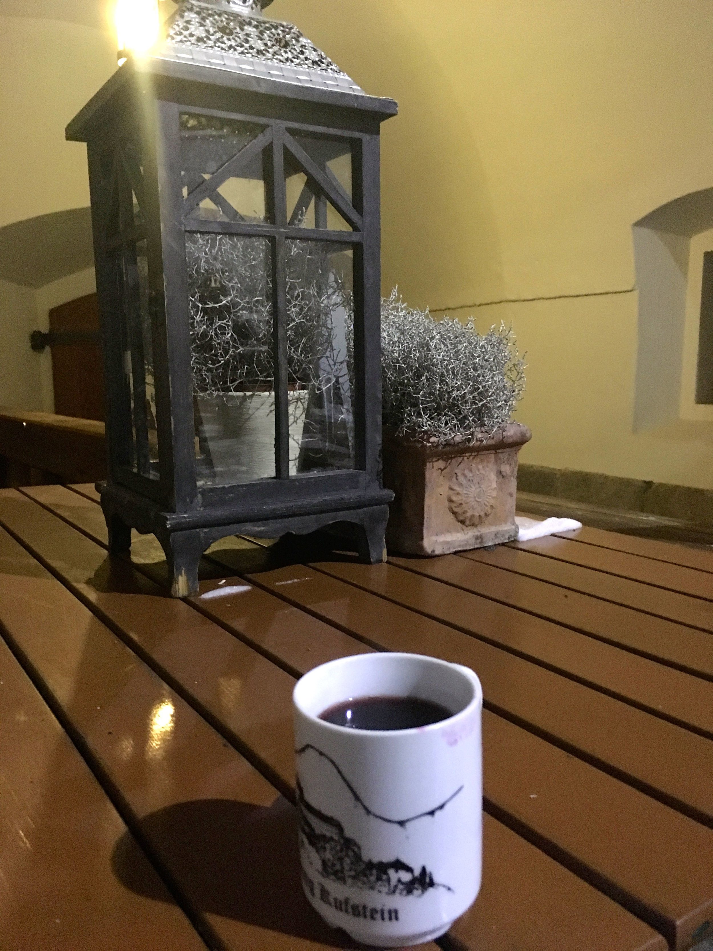 The mulled wine At the Fortress at Kufstein was most welcome though