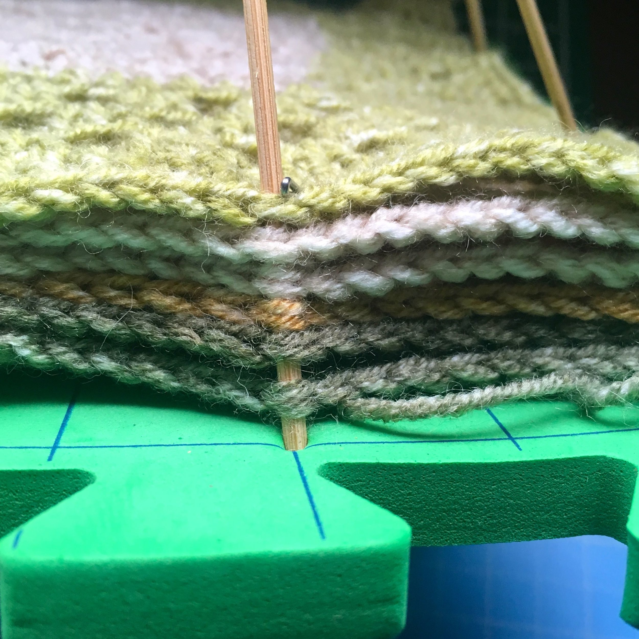 A side on view of the squares being blocked