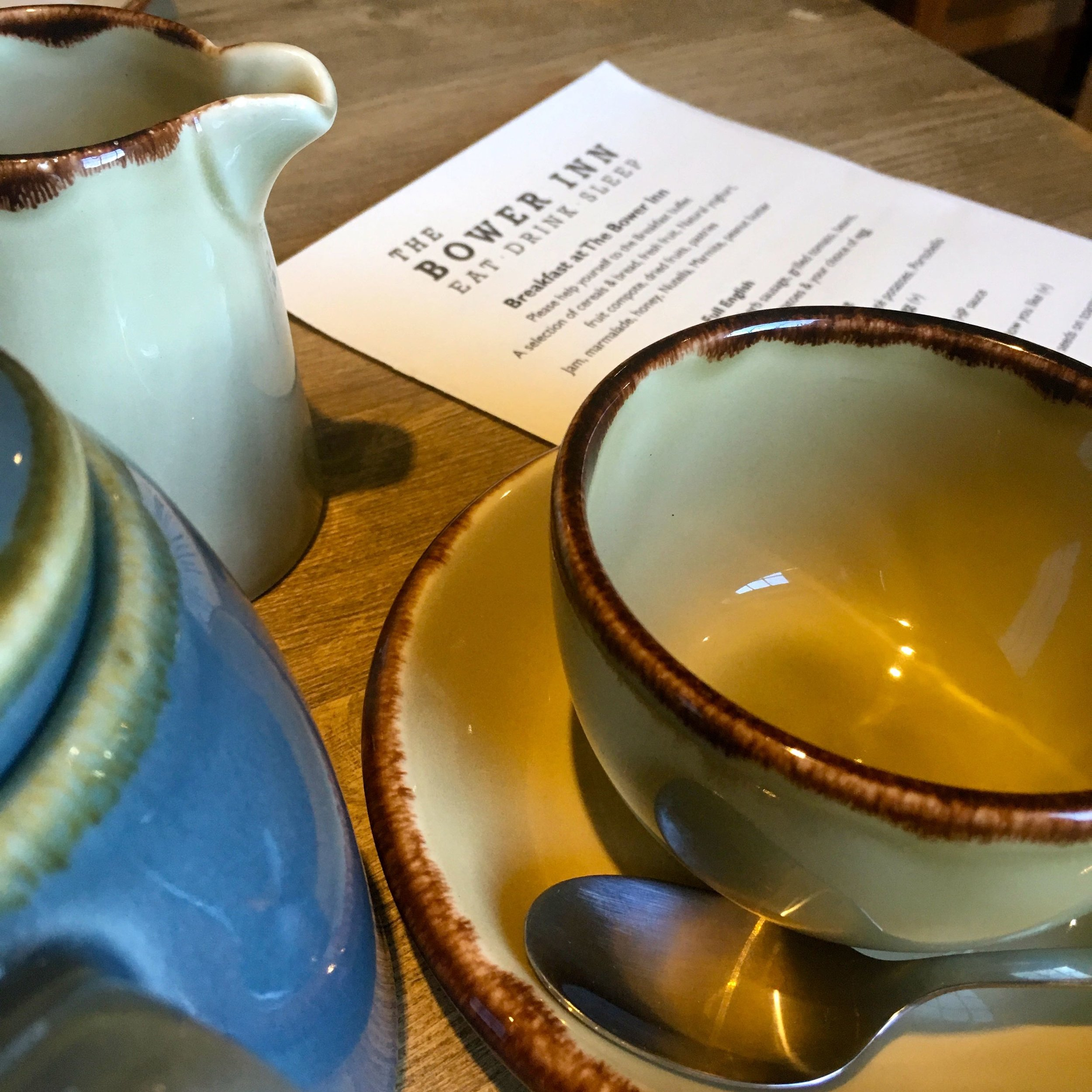 Breakfast at the Bower Inn in Bridgwater
