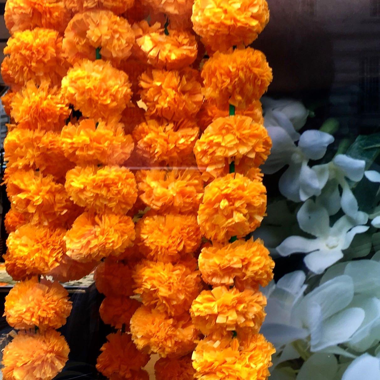 Garlands in a shop window on Regents Street