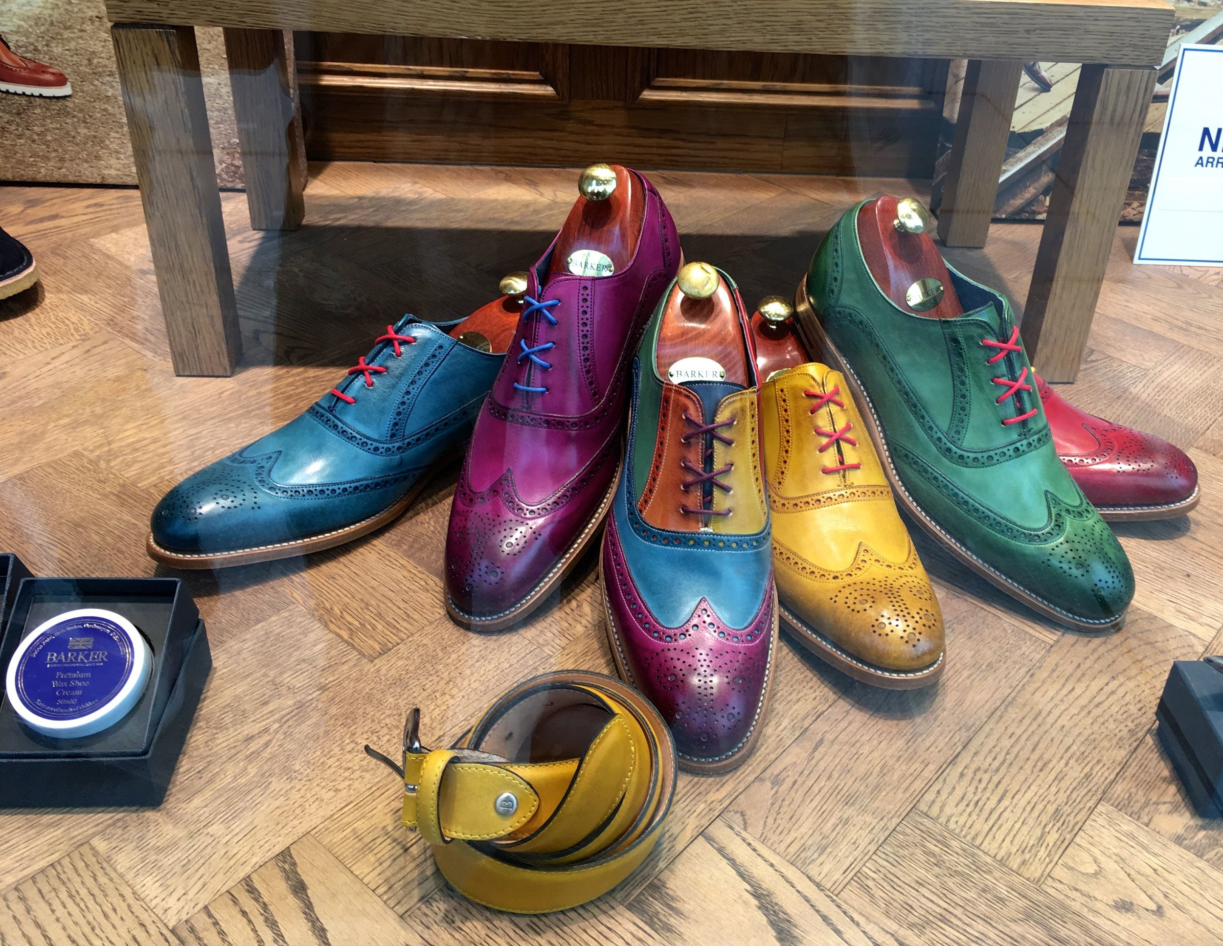 Colourful brogues