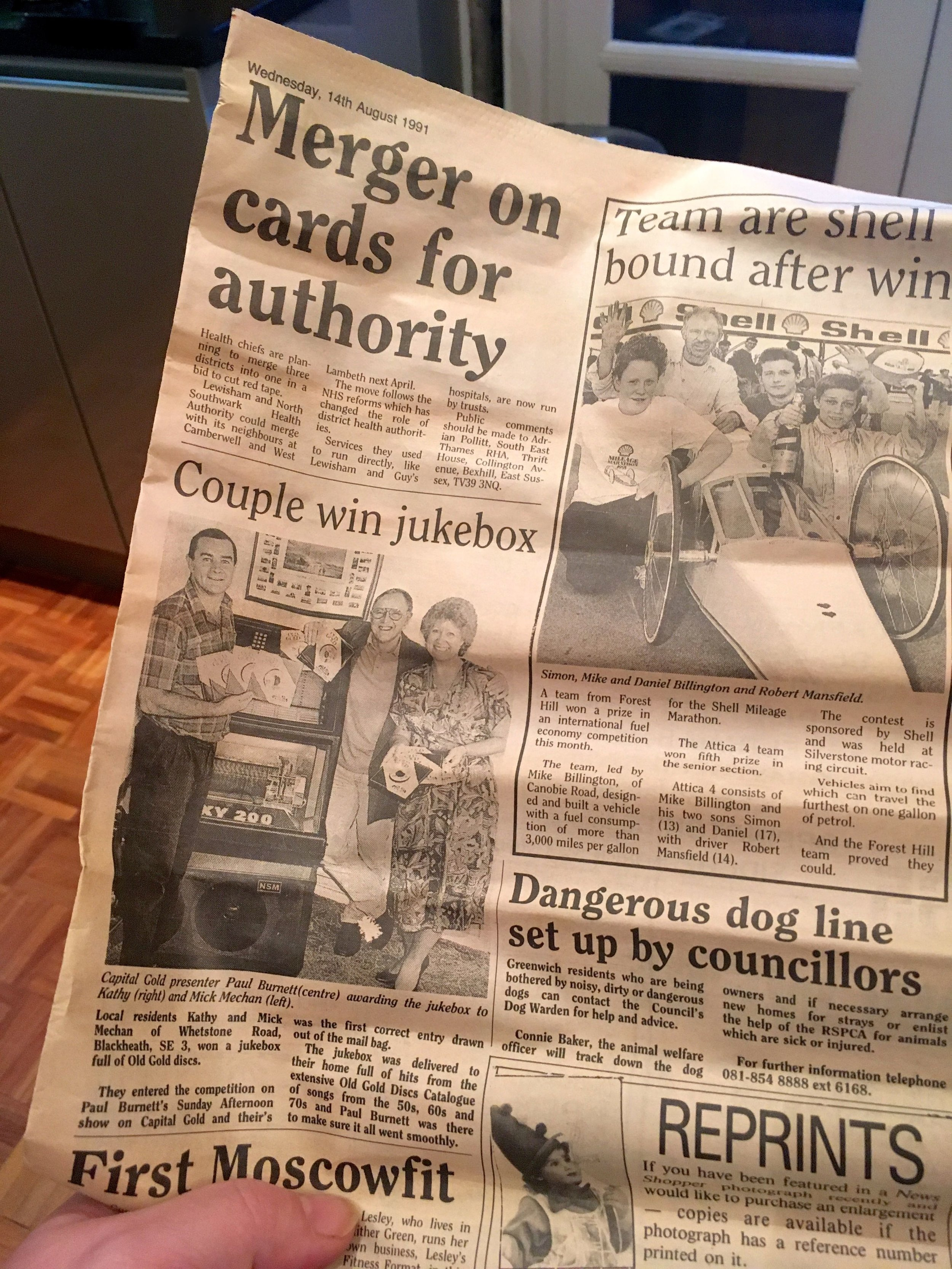 A Newsshoppper (local paper) from 1991