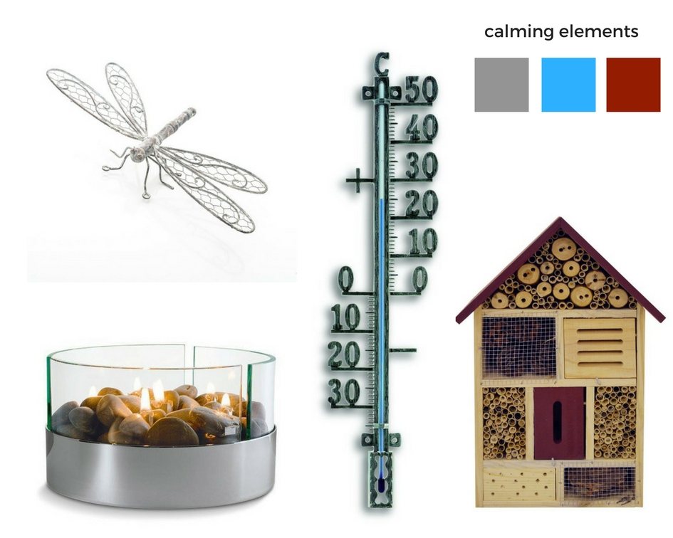 5 calming elements - items from Wayfair