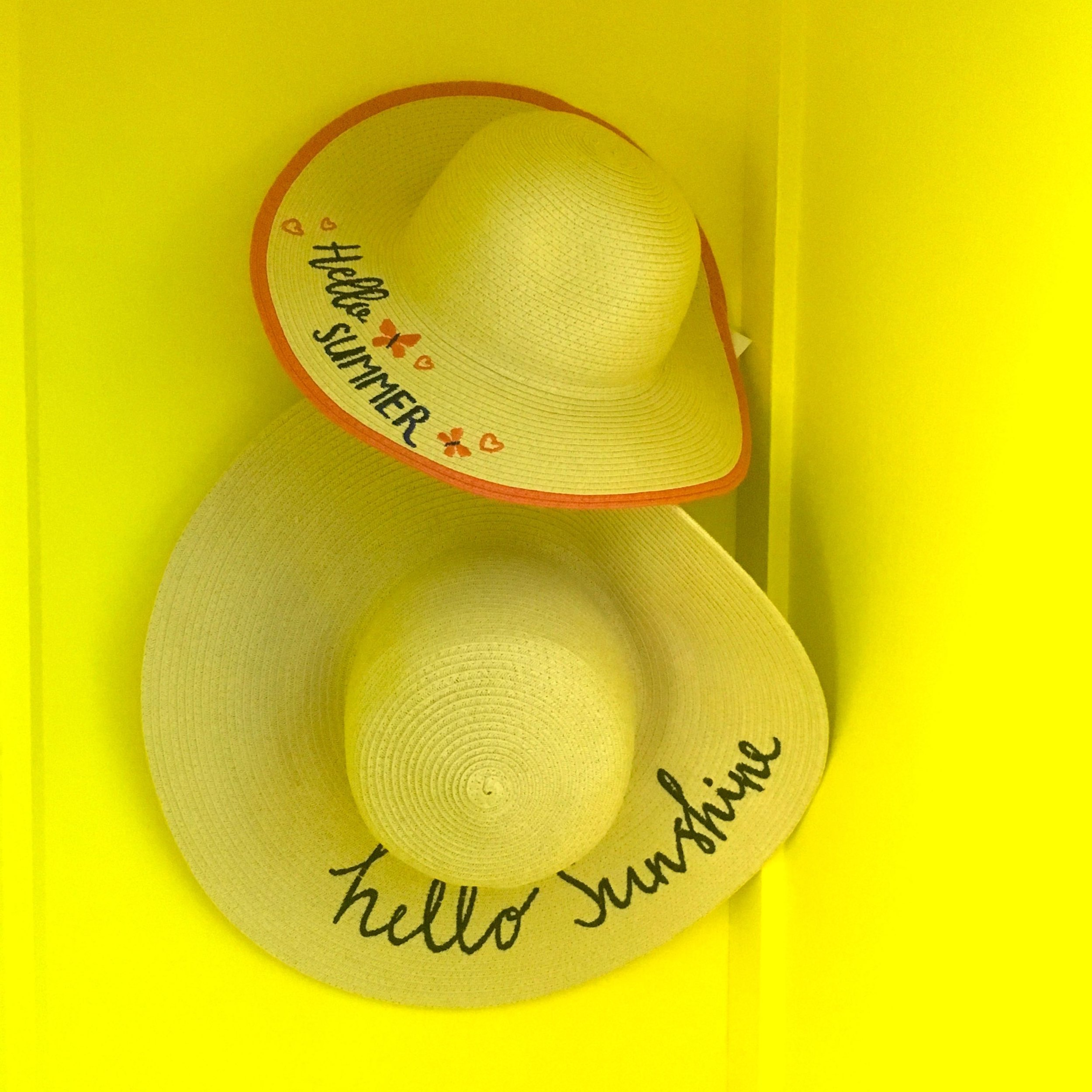 straw hats - hello sunshine, hello summer - but where's it gone?