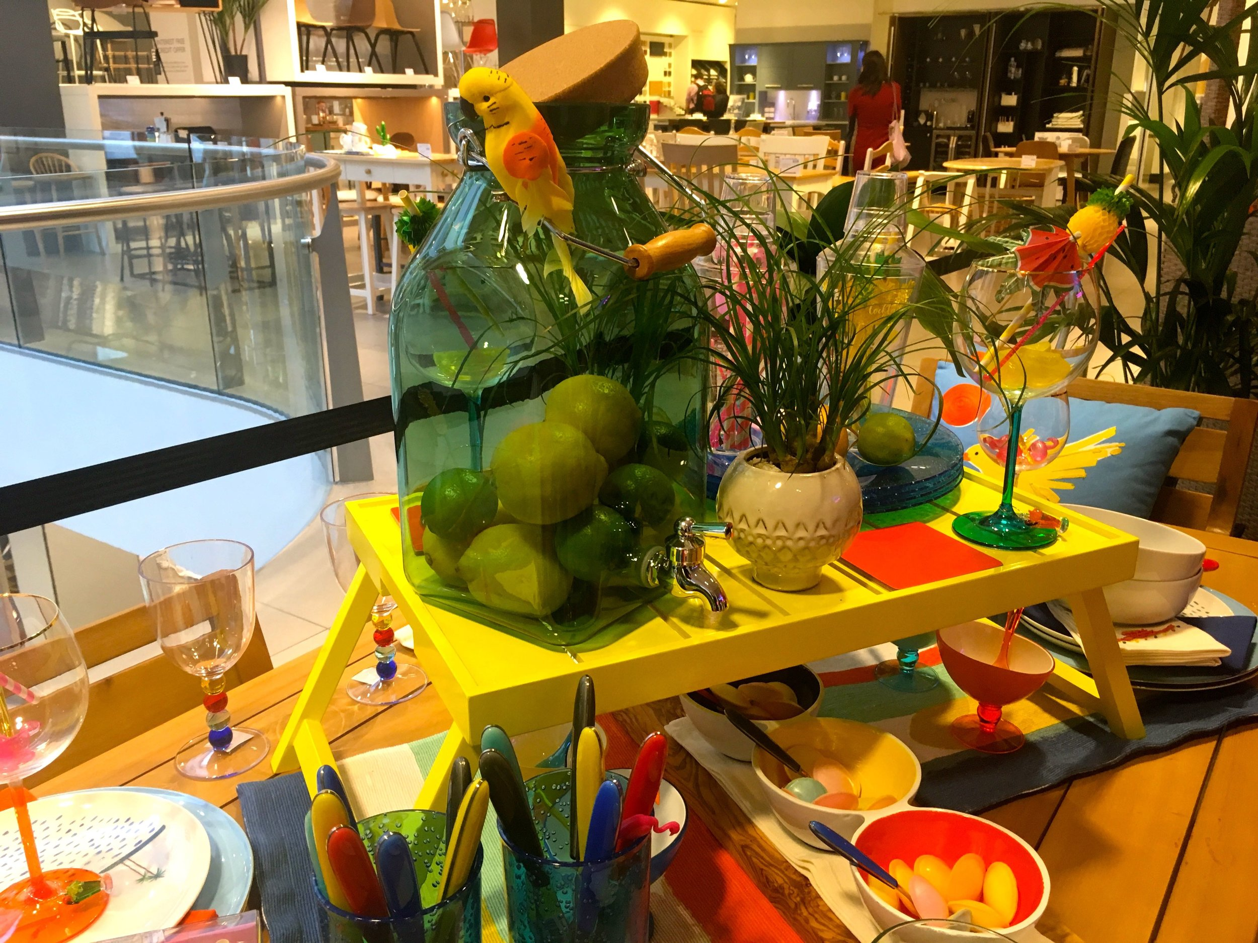 A colourful feast of a table at John Lewis in Oxford Street