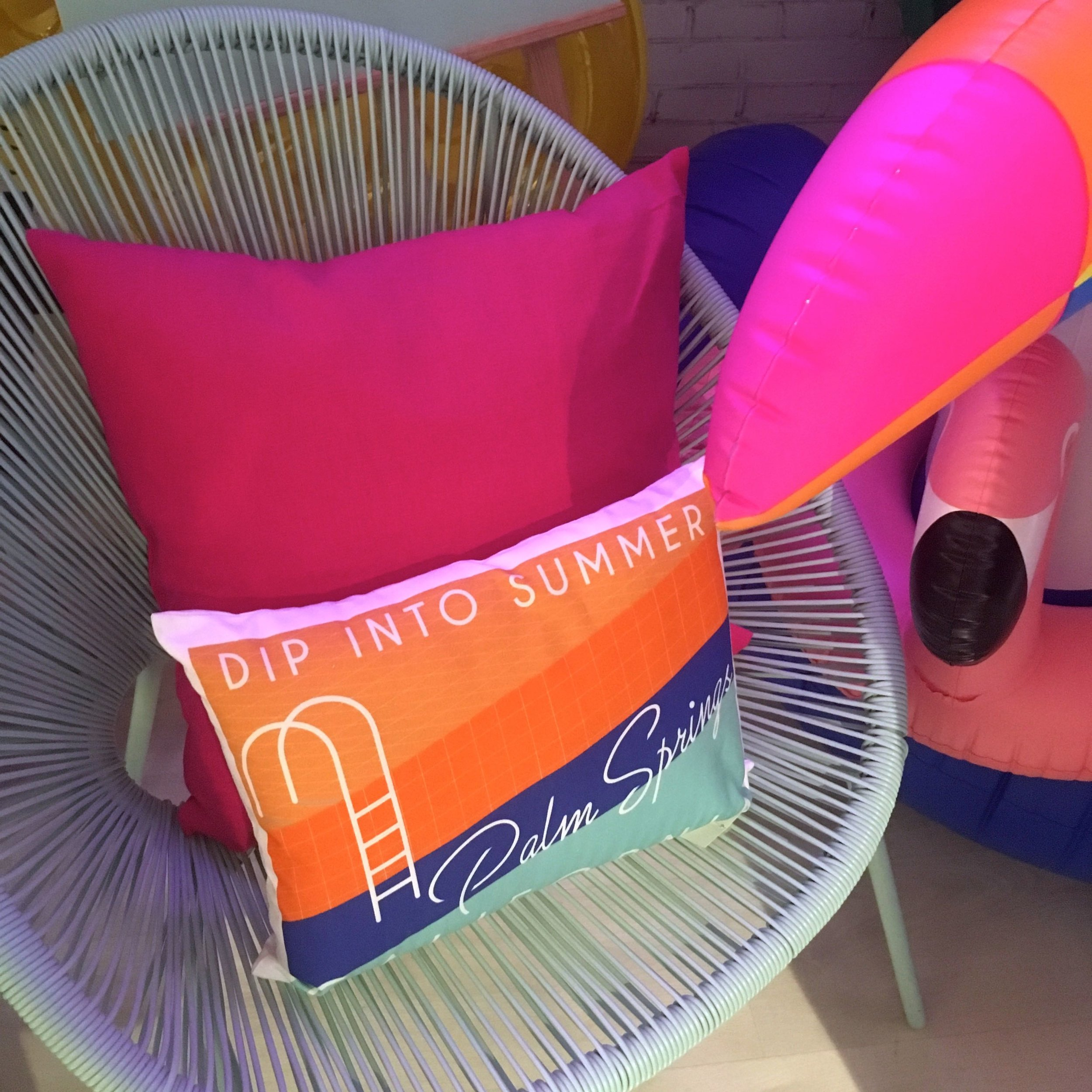 Dip into summer cushion and one of those chairs again
