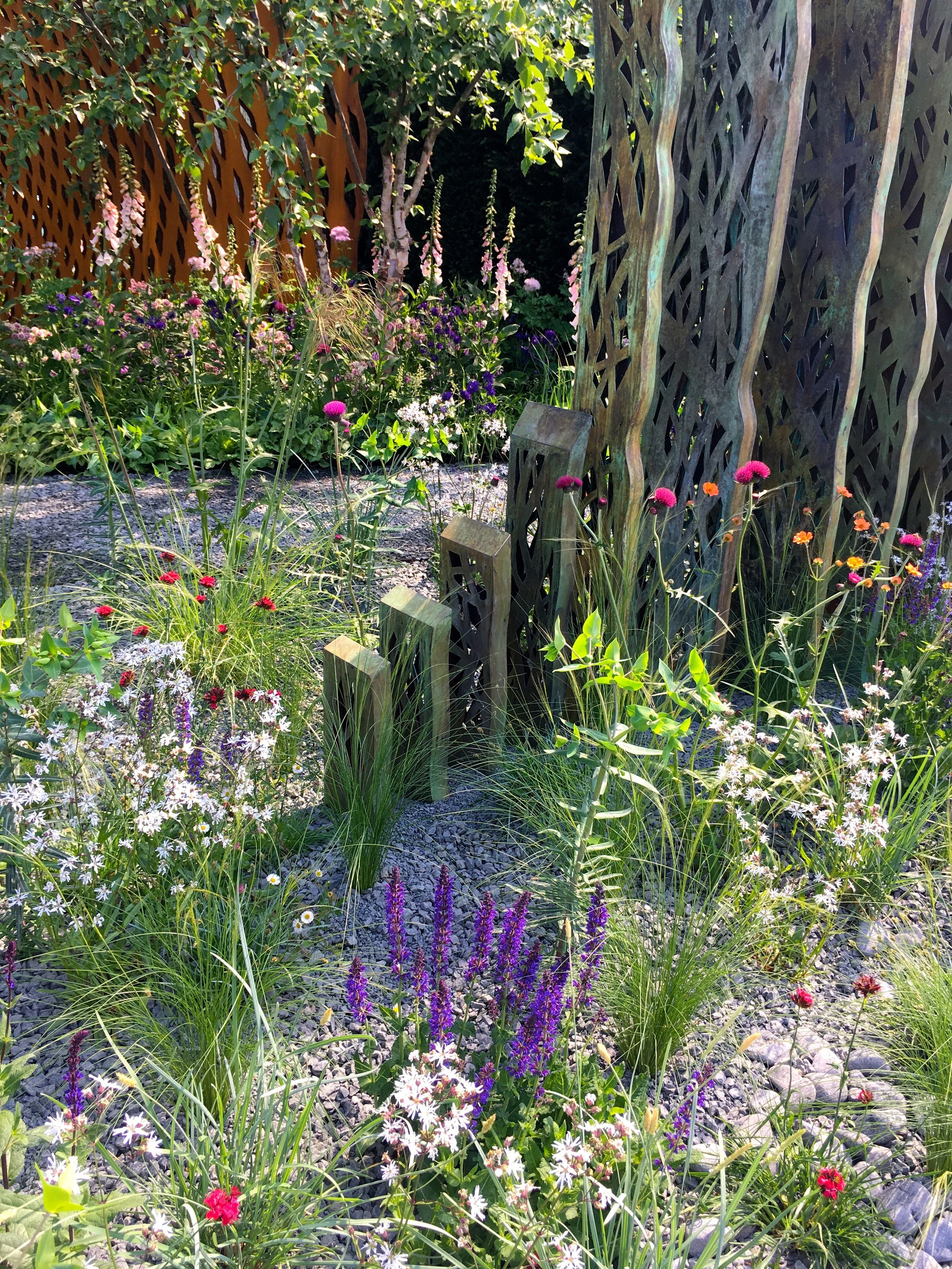 Planting in the David Harber and Savill garden at the 2018 Chelsea Flower show