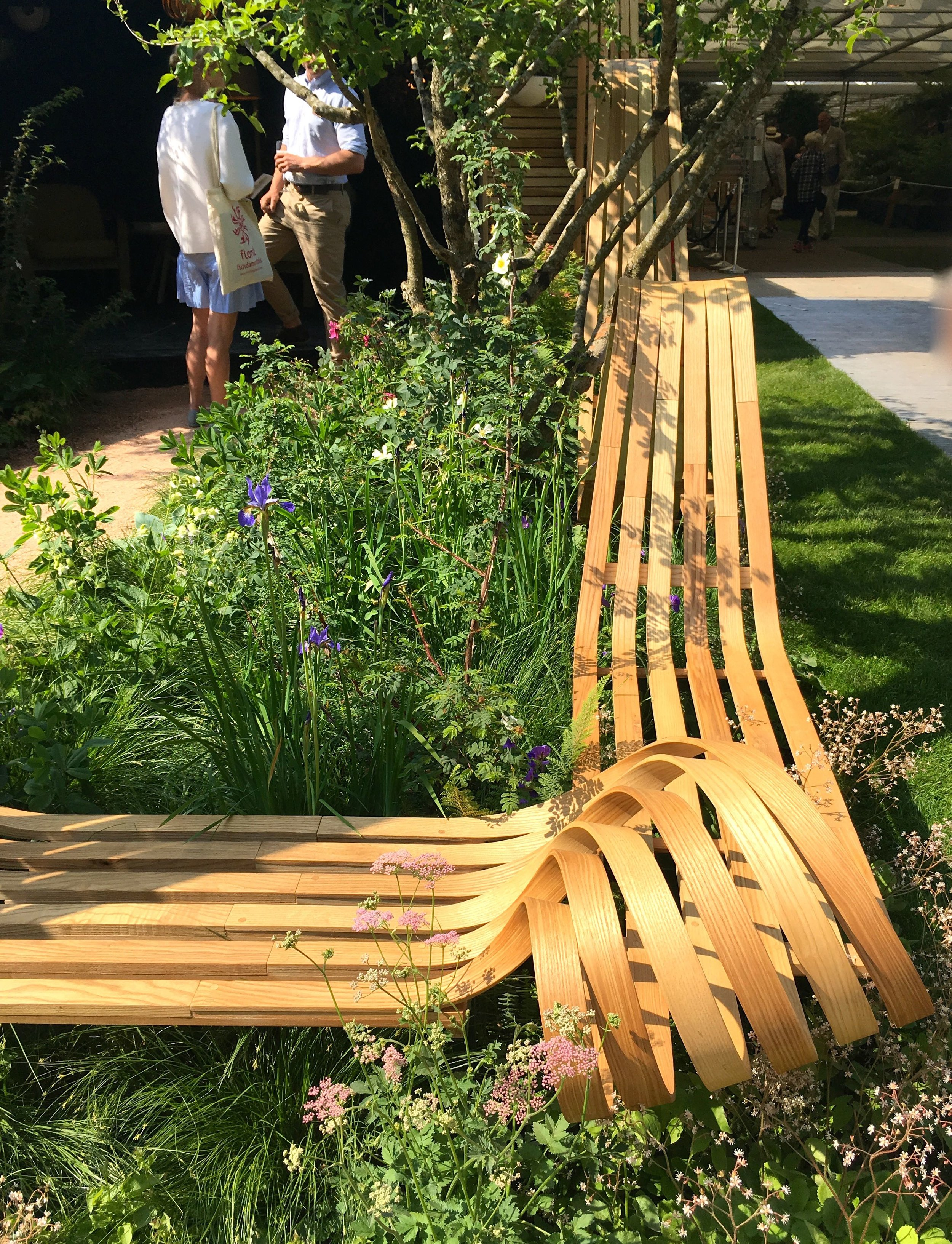 Tom Raffield at the Chelsea Flower Show in 2018