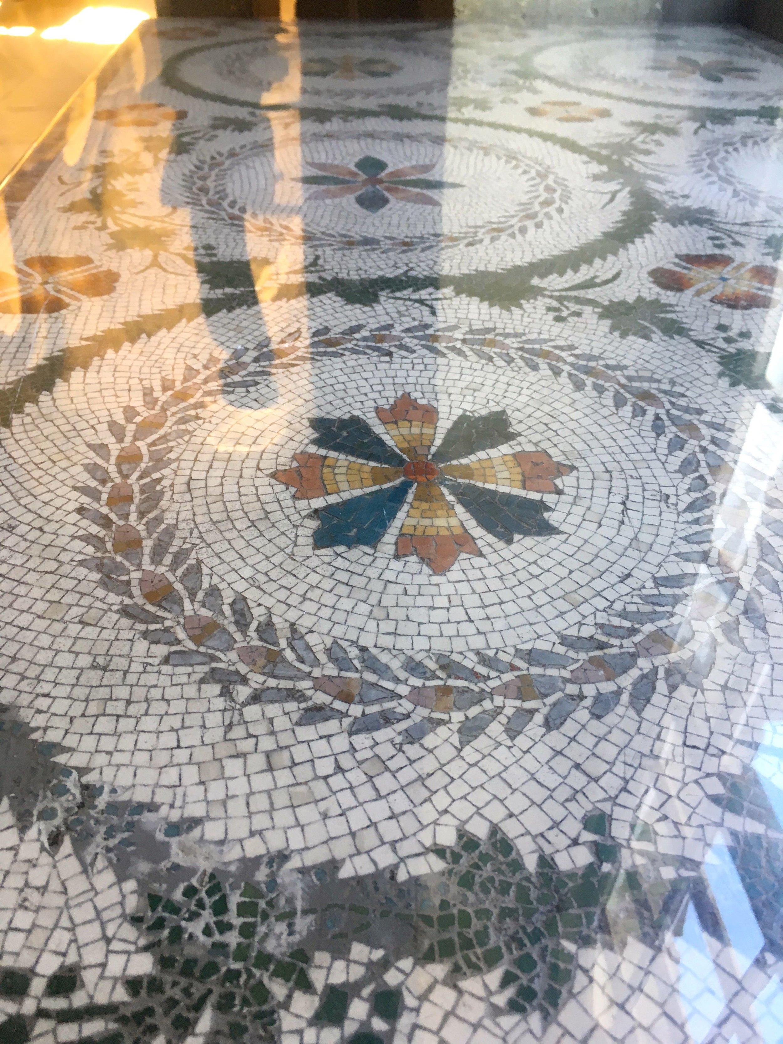 MOSAIC TABLE TOPS AT CASTLE HOWARD
