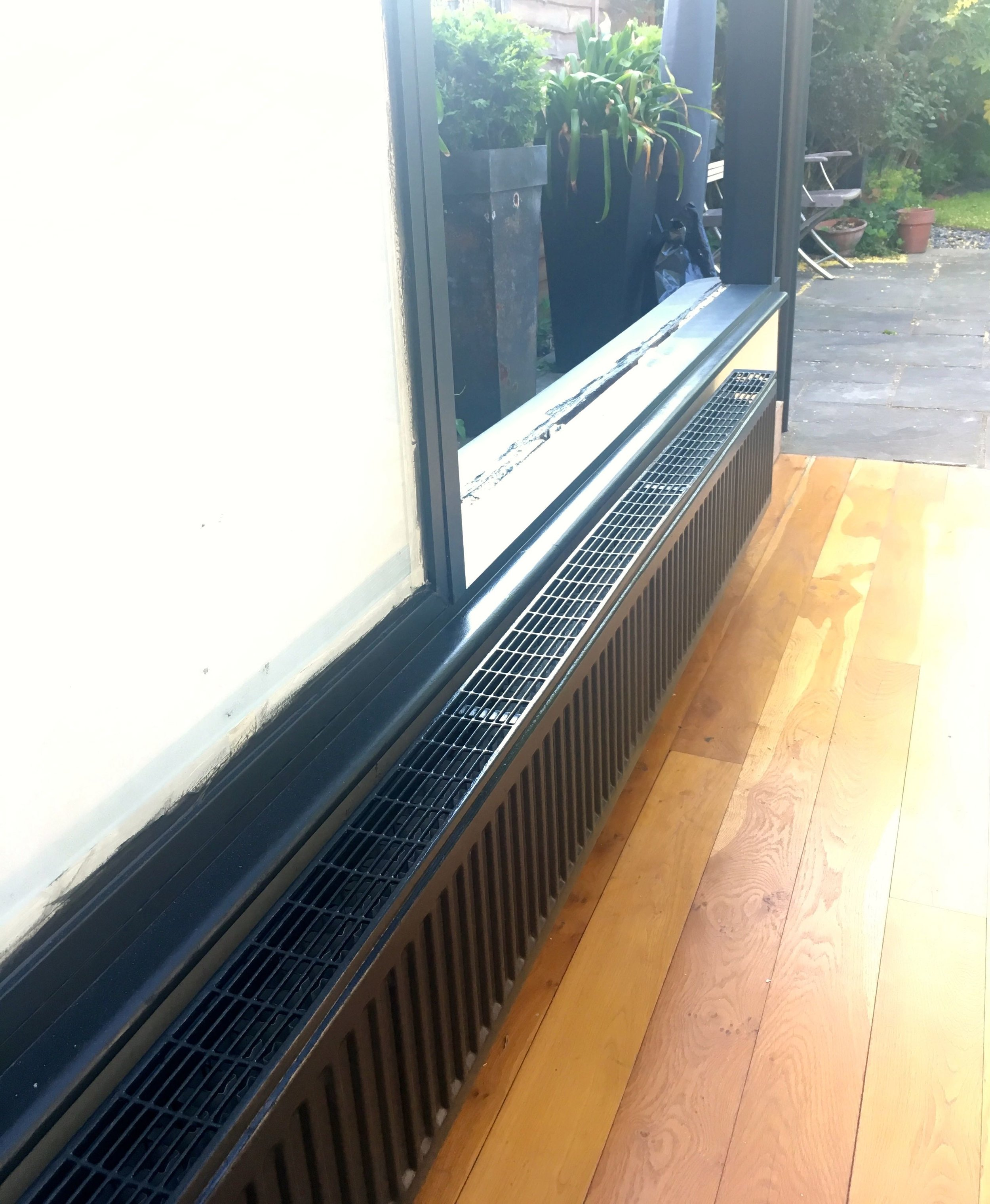 OUR NEWLY PAINTED GREY RADIATOR
