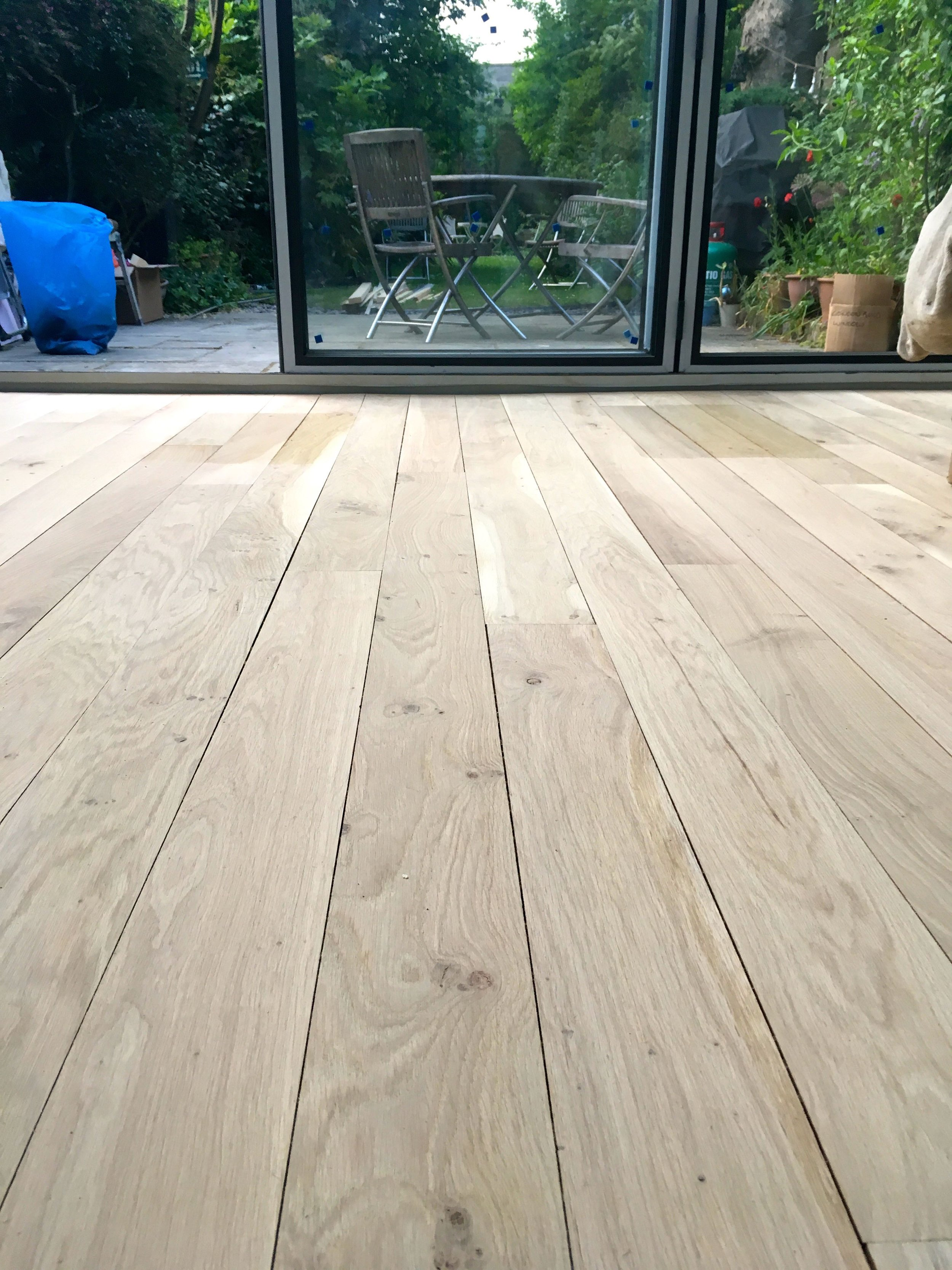 The sanded floor
