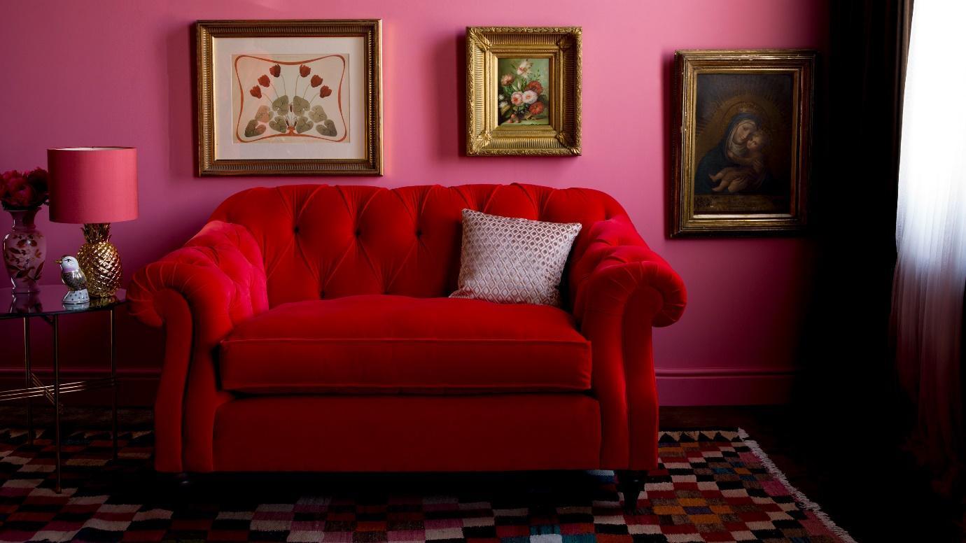 A bold velvet chesterfield by Arlo & Jacob